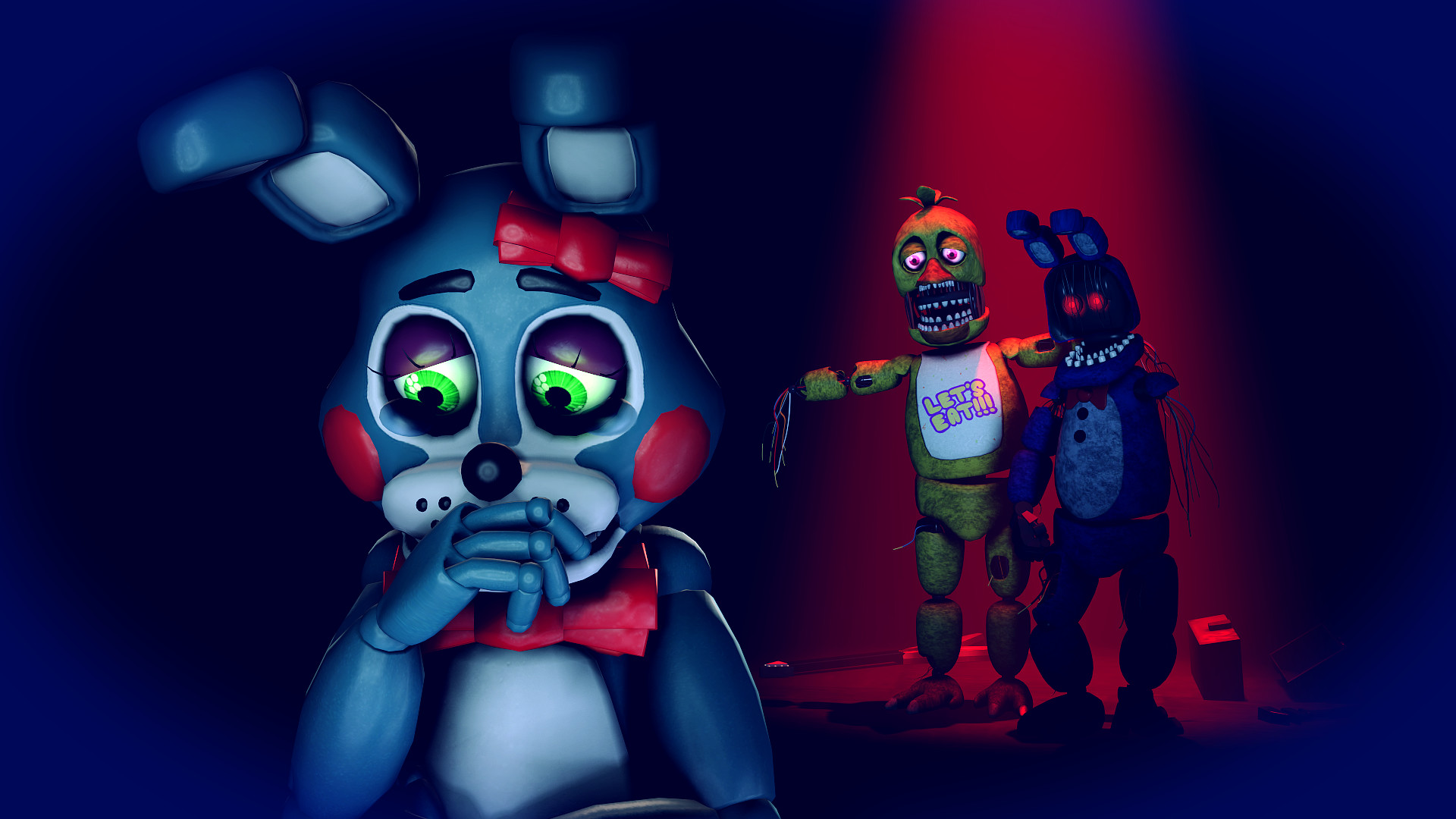 1920x1080 ... The one I love...broke my heart-Toy Bonnie by TalonDang