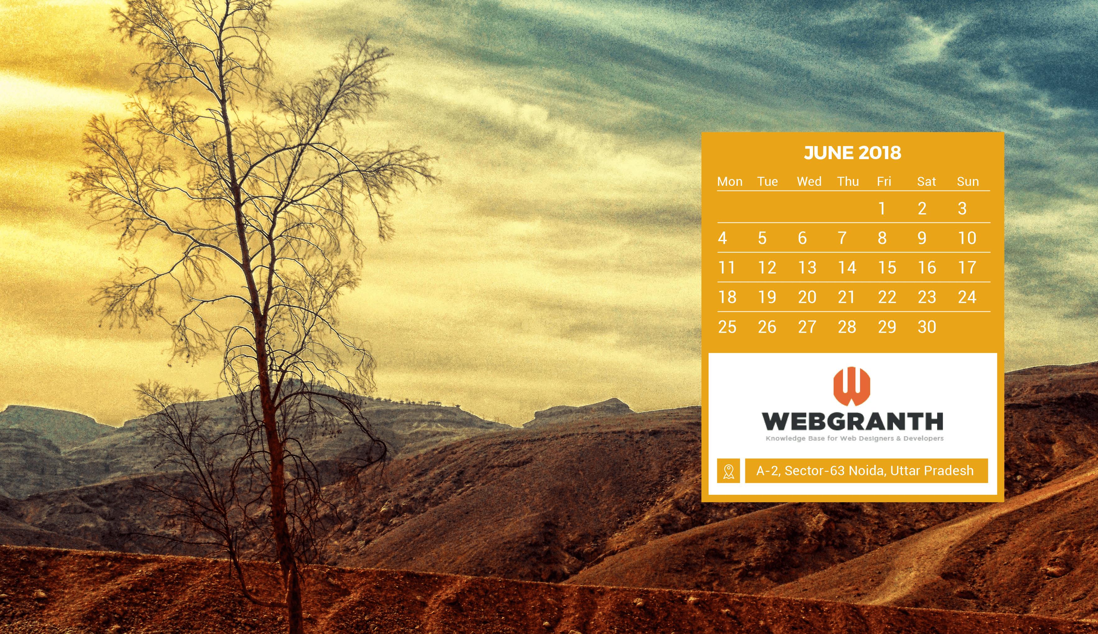 Desktop Wallpapers Calendar June 2018 (52+ Images