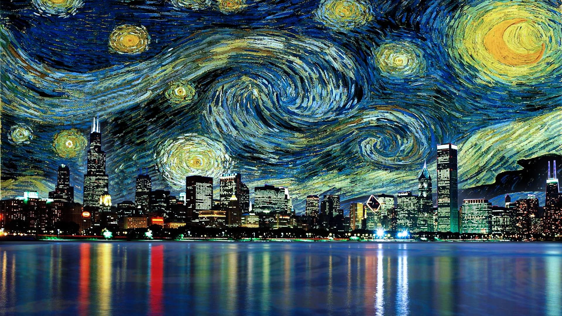 1920x1080 A Starry Night Sky in Chicago
