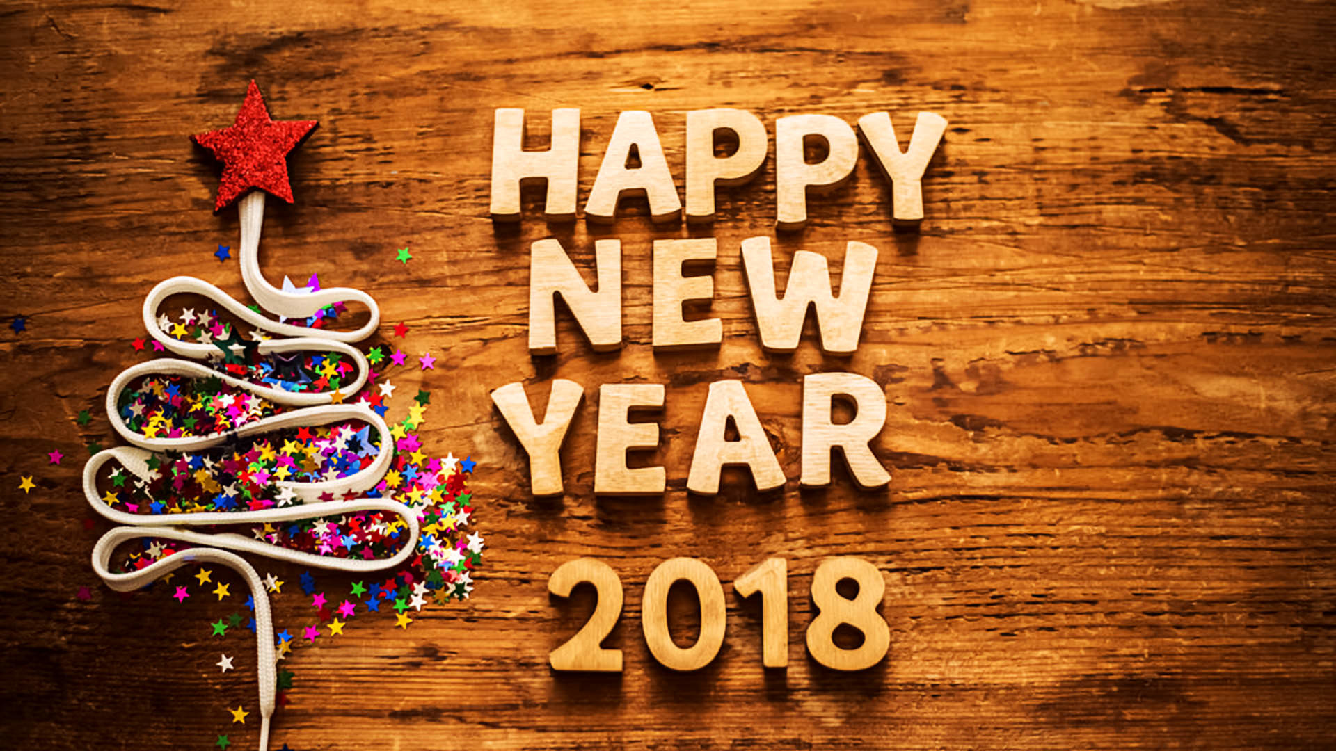 1920x1080 simple new year 2018 wallpaper for desktop download