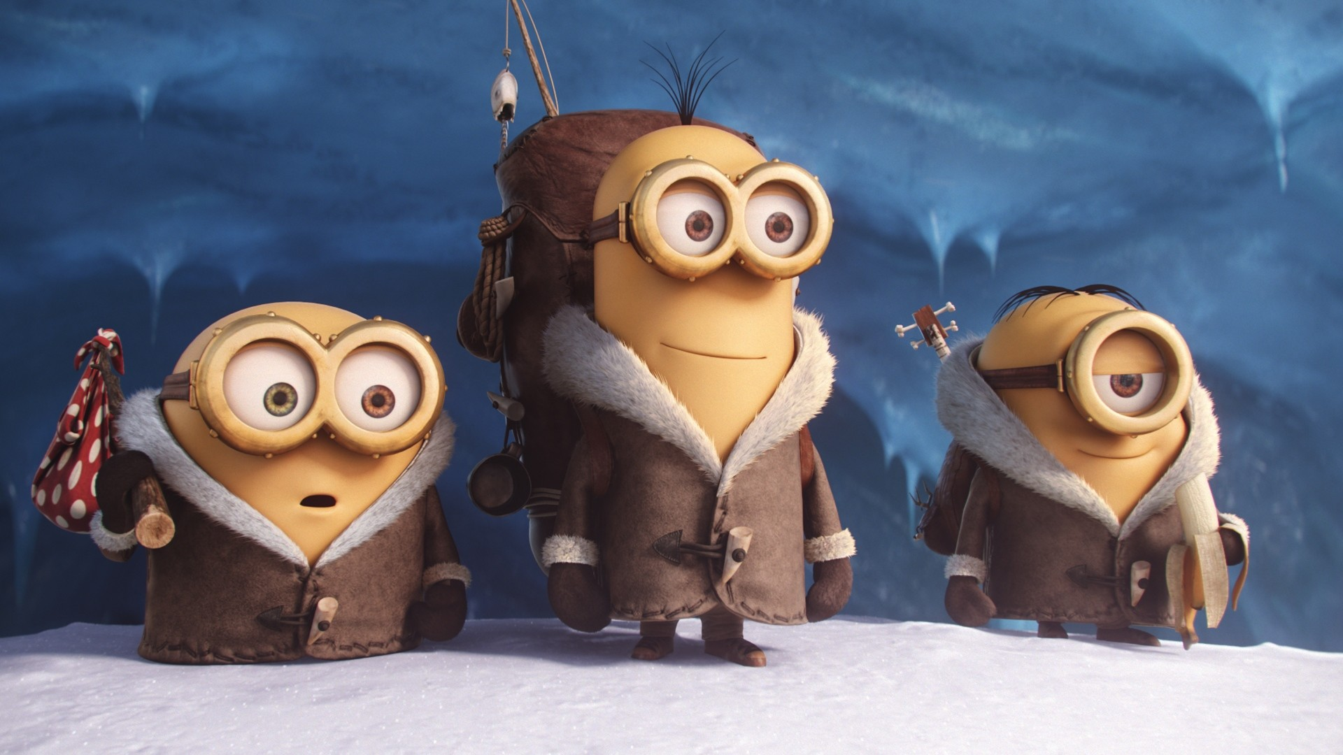 1920x1080 Preview wallpaper minions, 2015, cartoon