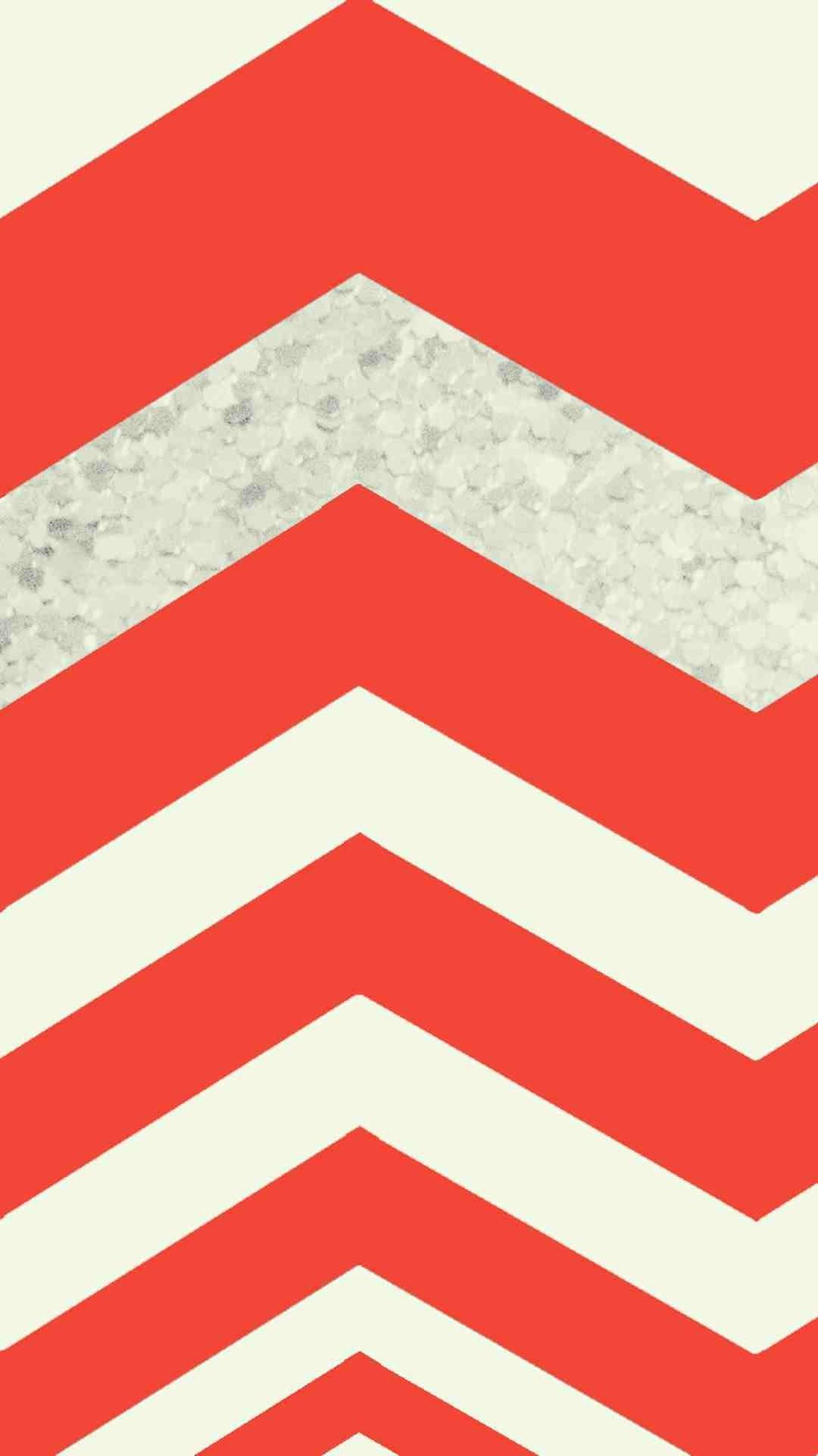 1080x1920 Huge Red Chevron Pattern IPhone 6 Plus Wallpaper