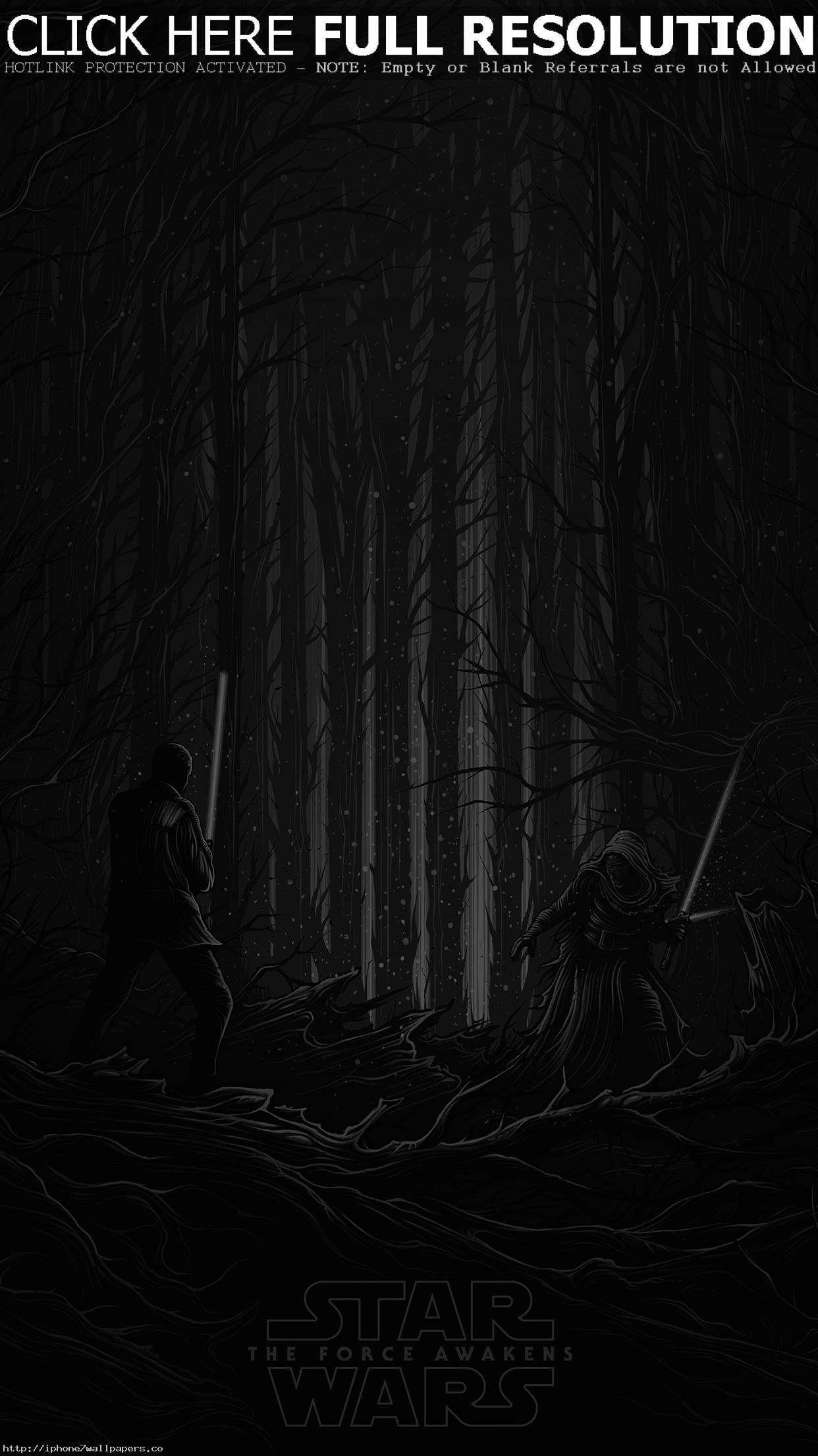 1242x2208 Starwars Illustration Bw Dark Art Film Android wallpaper - Android HD  wallpapers