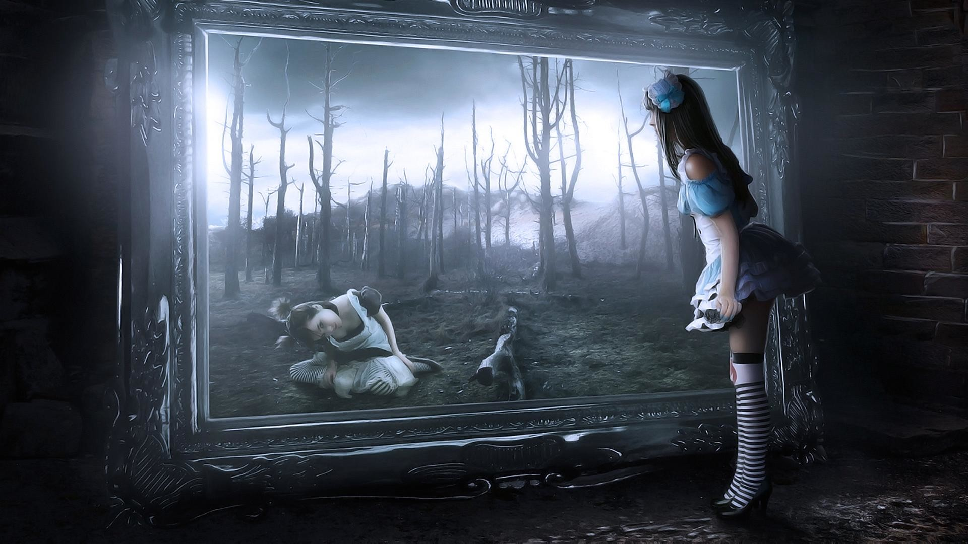 1920x1080 Full Image for Alice In Wonderland Mirror 141 Cool Ideas For Wallpaper Alice  Mirror Wonderland ...