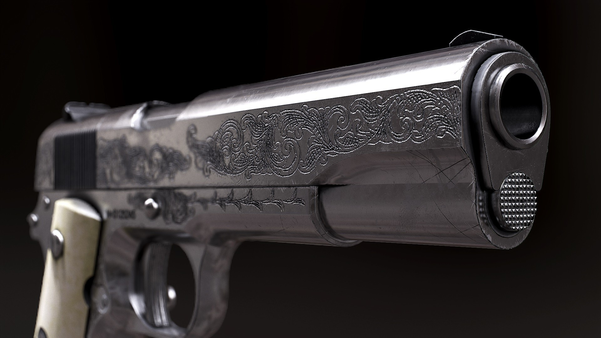 1920x1080 Dean's Colt 1911 - Supernatural Edition