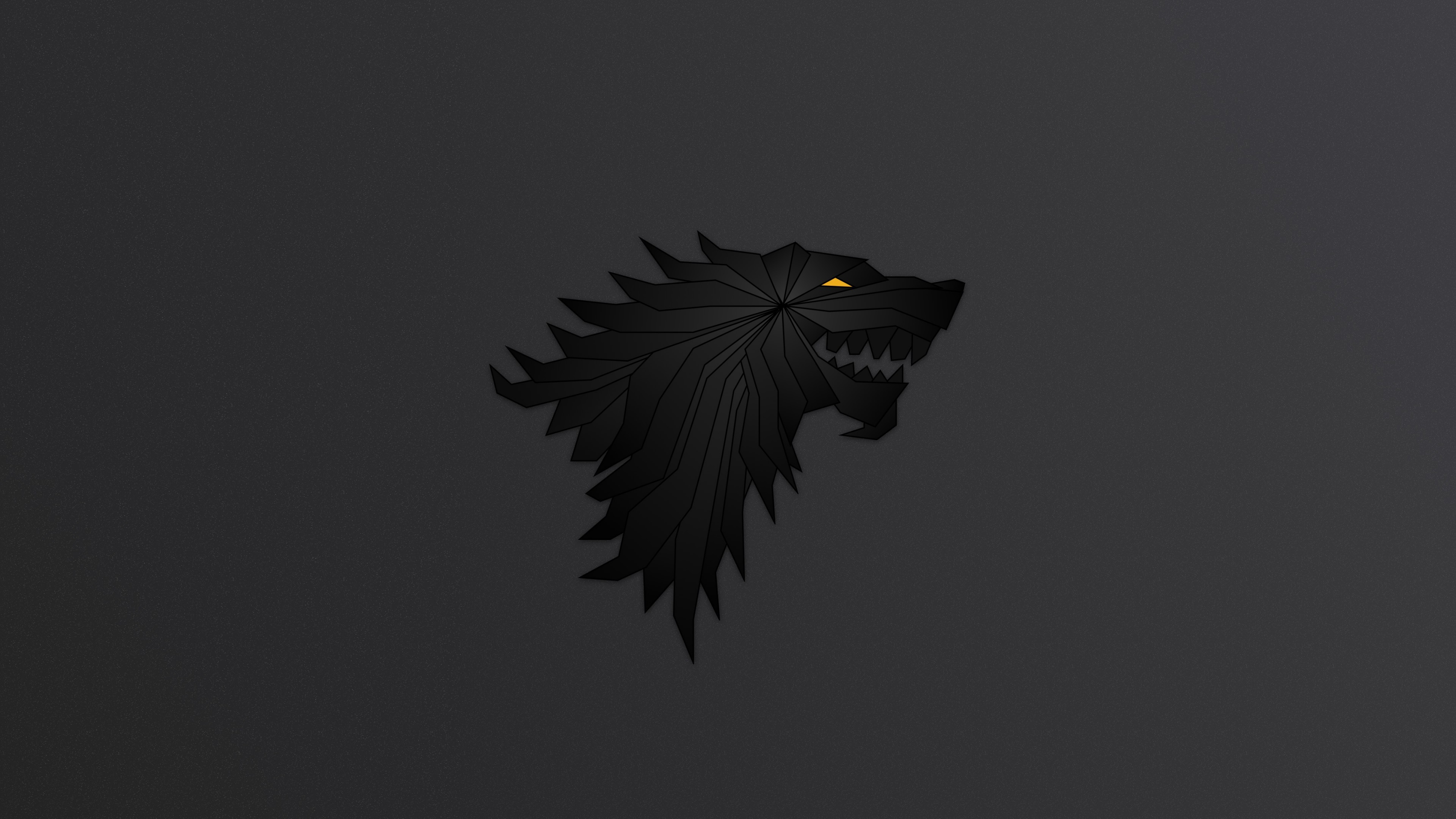 3840x2160 House Stark Game Of Thrones Minimalism