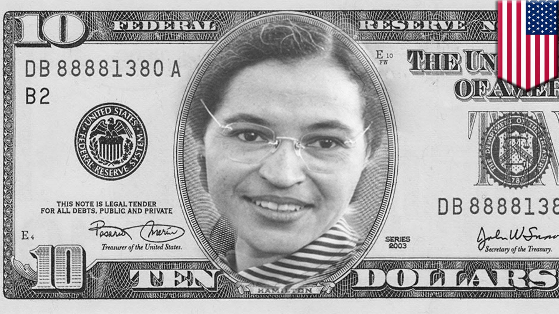 1920x1080 Woman on ten dollar bill: Rosa Parks, Margaret Thatcher among GOP  candidates' ideas for new $10 bill