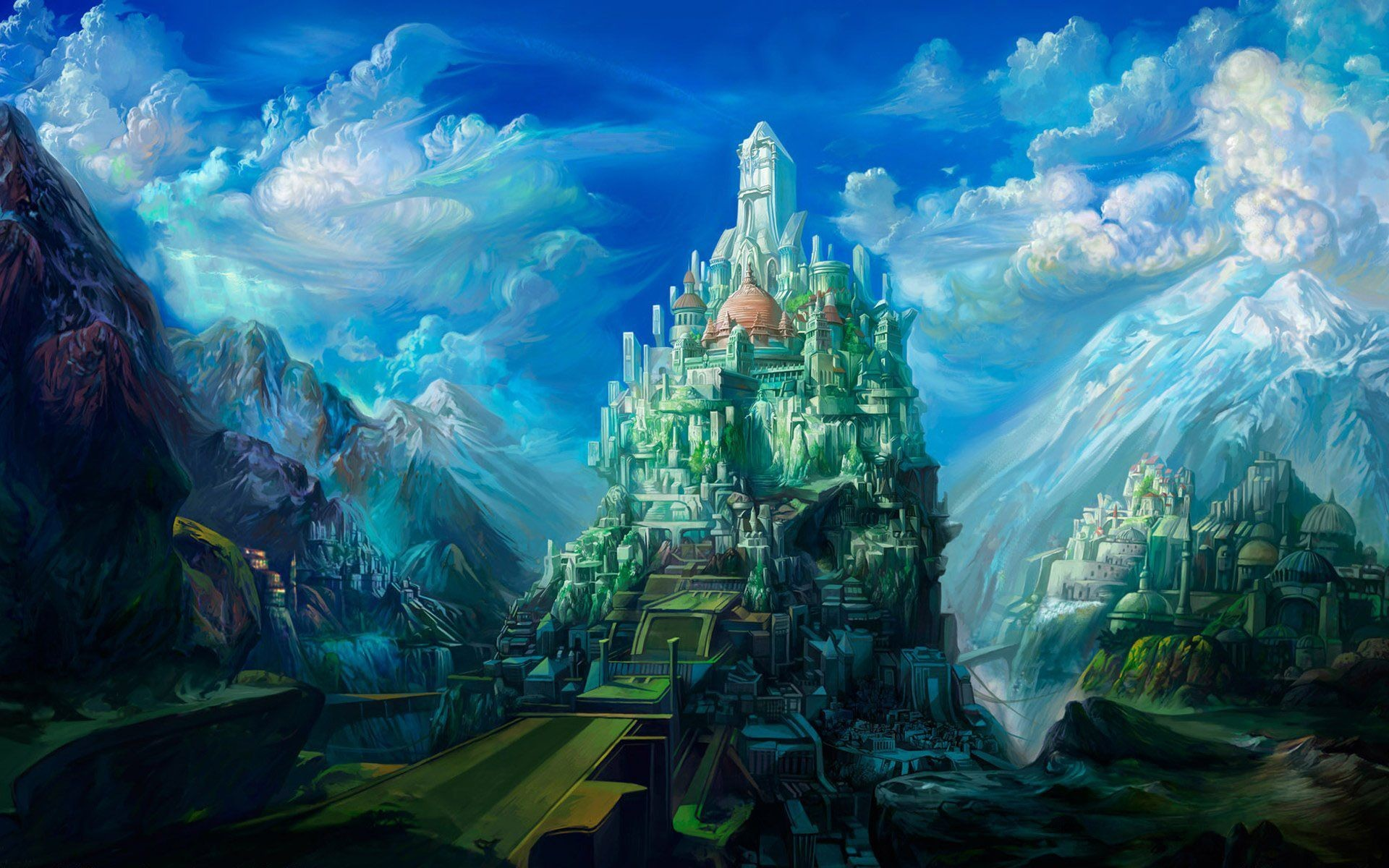 1920x1200 fantasy castle wallpaper mobile with high resolution wallpaper desktop on  anime category similar with castle lanfscape