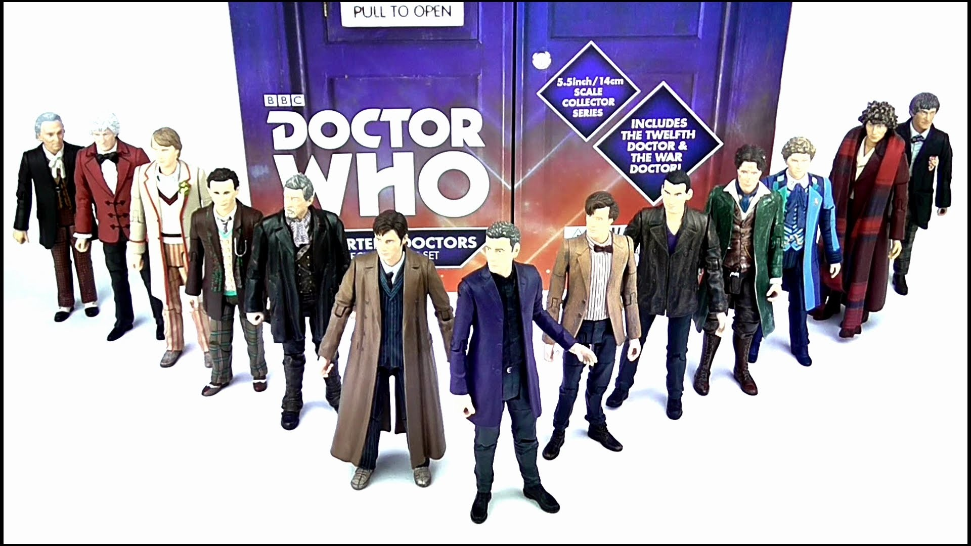 1920x1080 DOCTOR WHO The Thirteen Doctors Collector Figure Set Review | Votesaxon07 -  YouTube