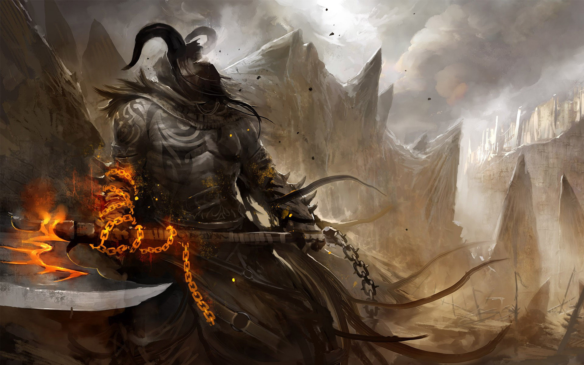 1920x1200 Demon Warrior HD wallpaper