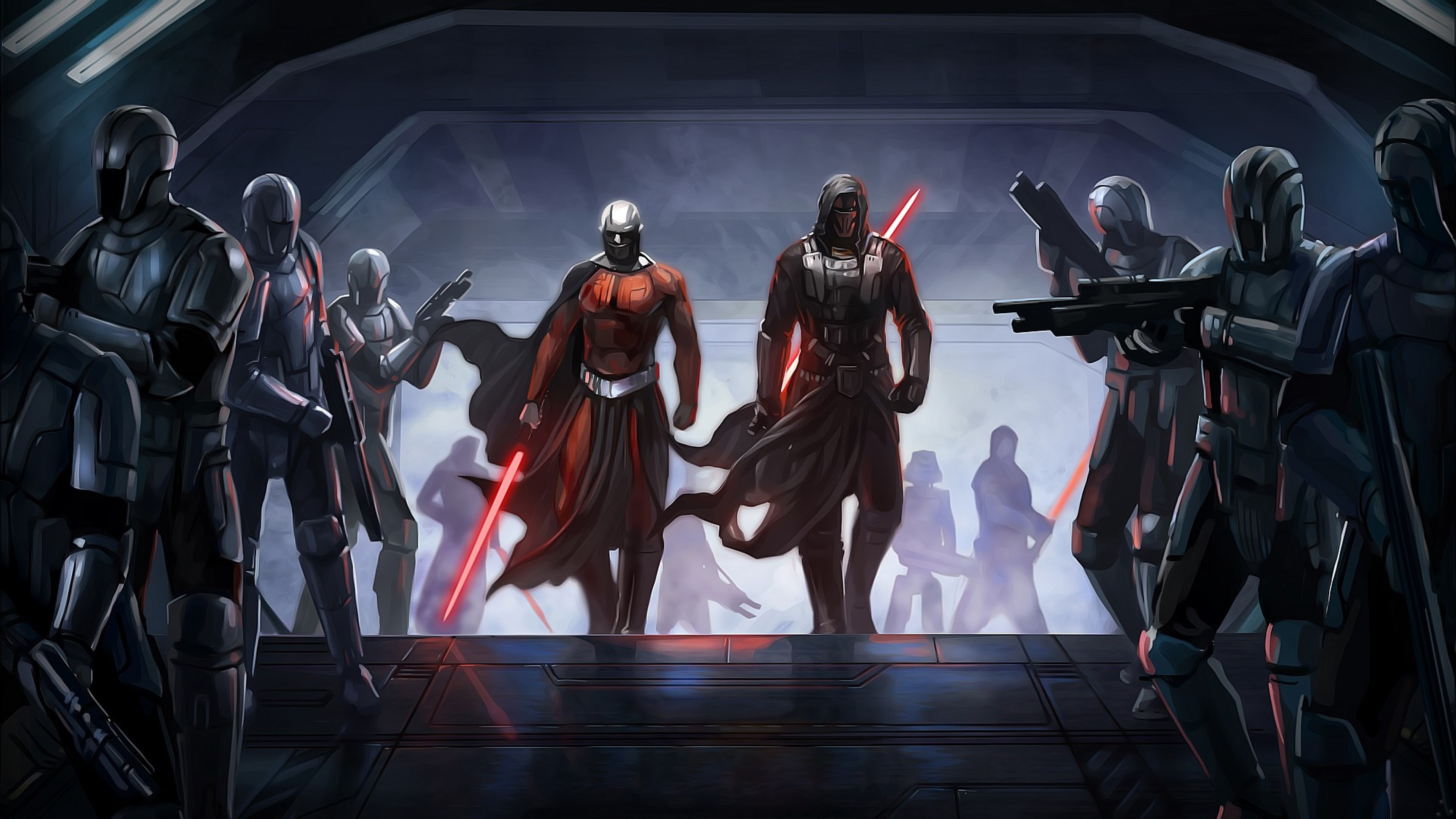 3840x2160  Wallpaper star wars the old republic, guard, characters .