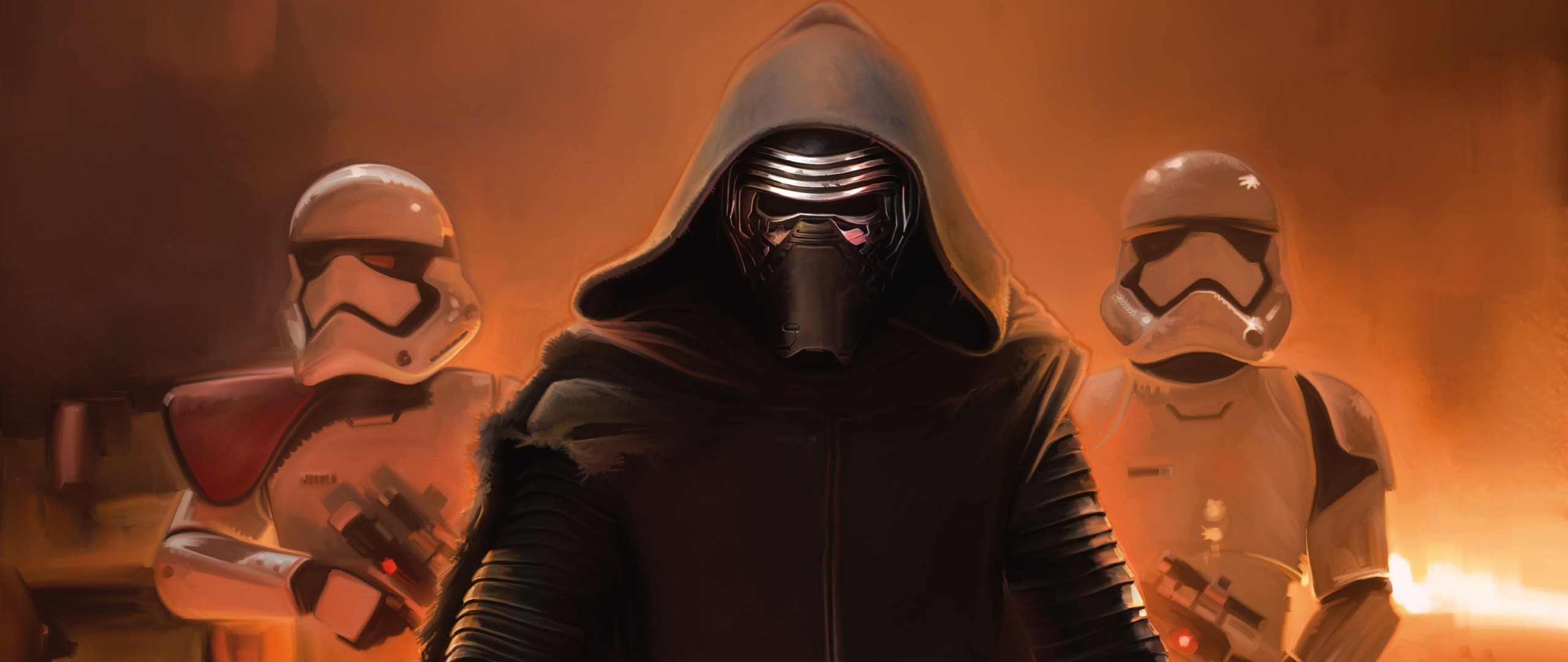 2560x1080  Wallpaper star wars, force, kylo ren, laser sword