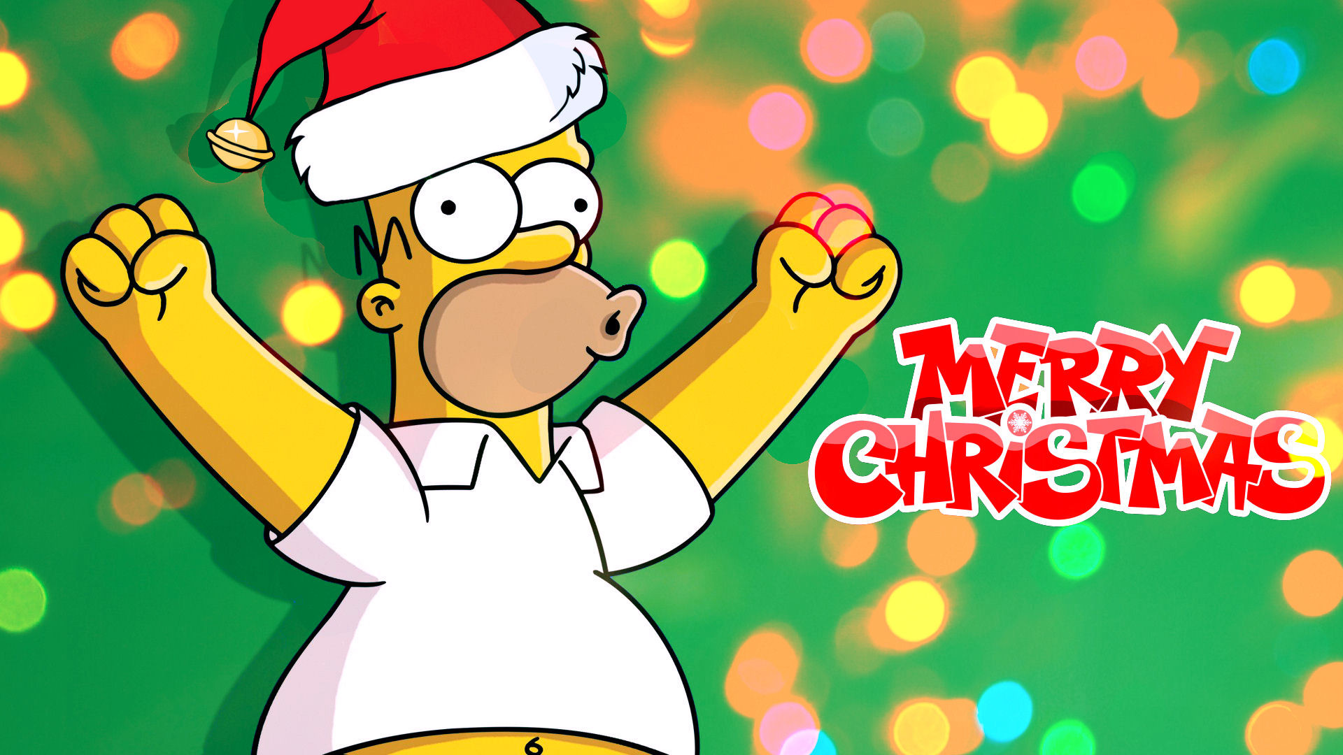 732276 vertical simpsons christmas wallpaper 1920x1080 for