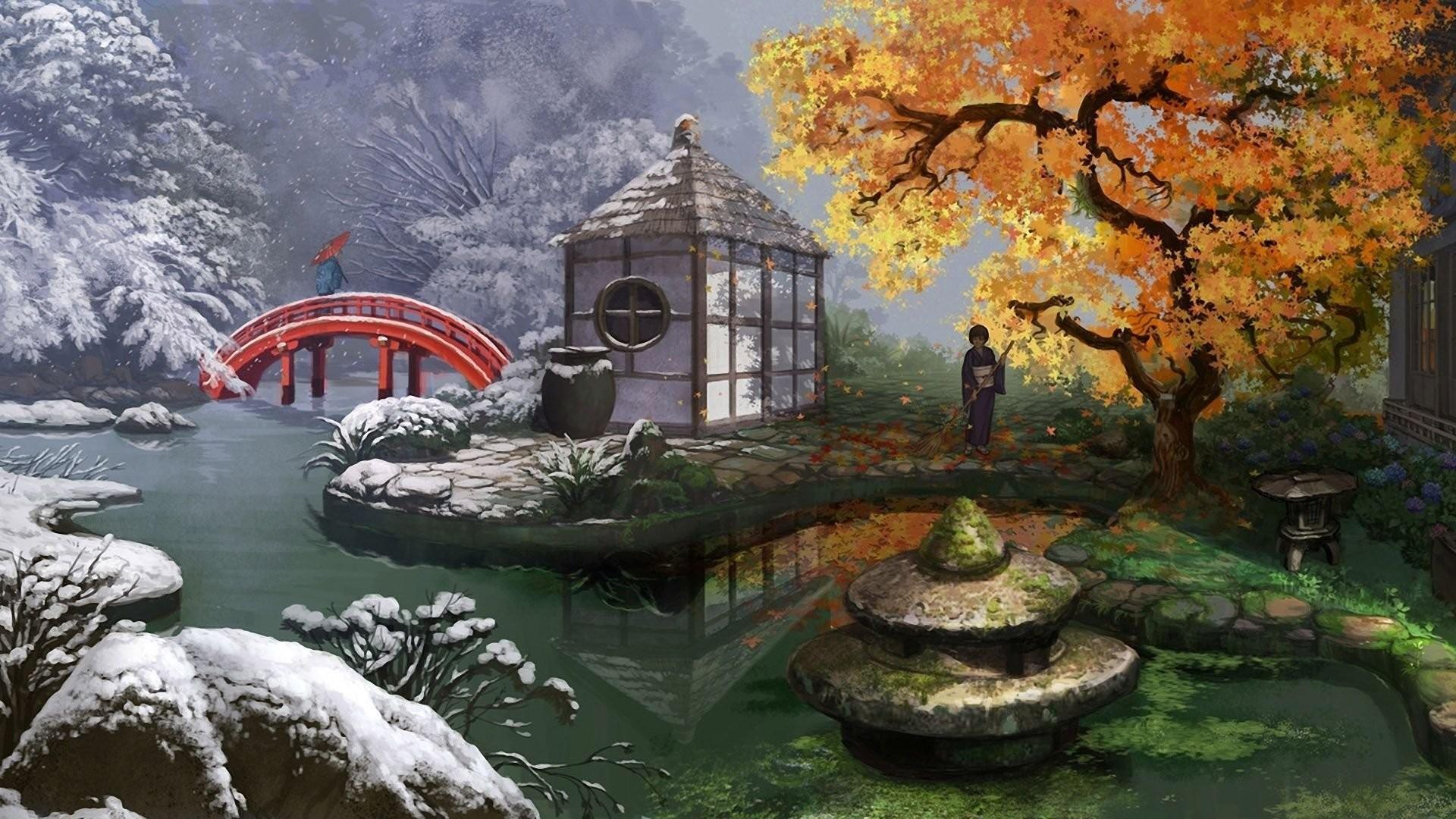 2880x1800 Japanese Garden Wallpaper