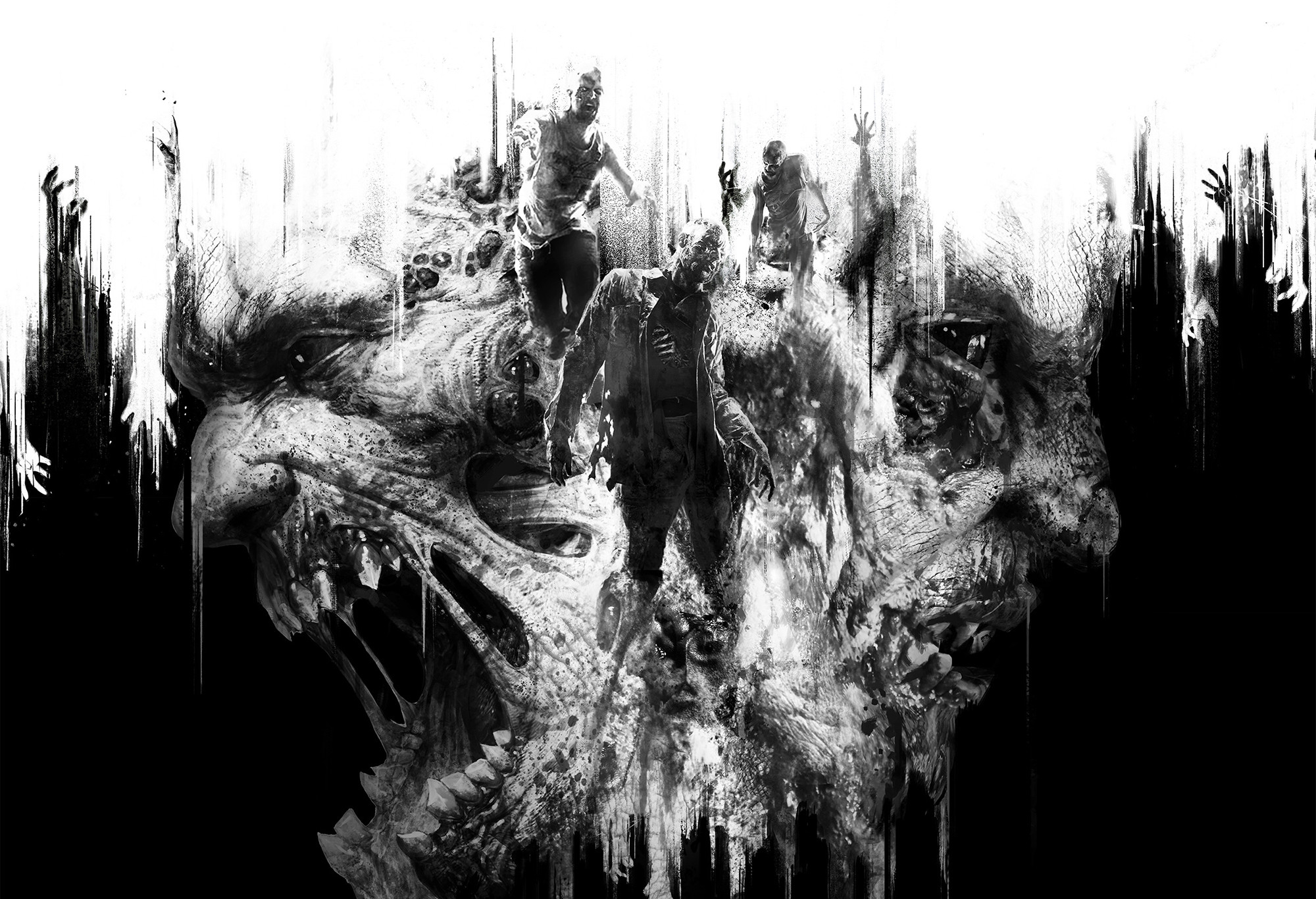 White zombie wallpaper 63 images 2000x1366 video game dying light video game creature monster horror black white zombie wallpaper voltagebd Gallery