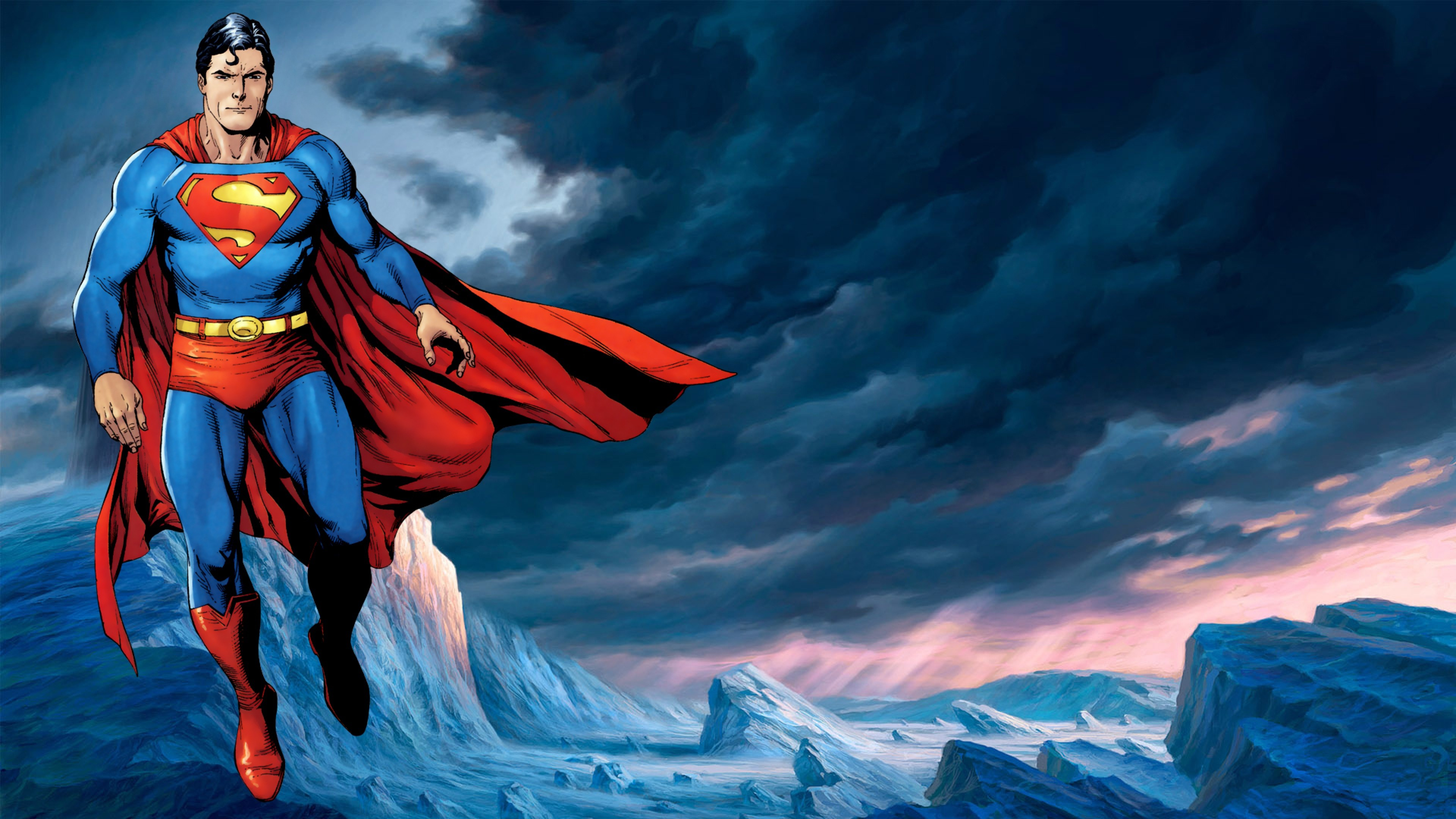 3840x2160 Preview wallpaper superman, action comics, dc comics