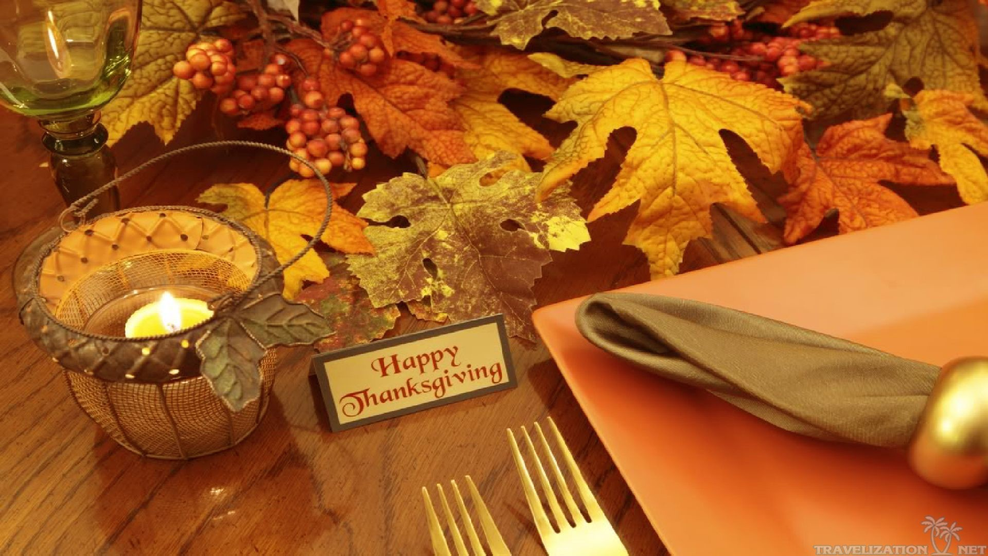 1920x1080 Thanksgiving Day Mouse - 3D and CG & Abstract Background .