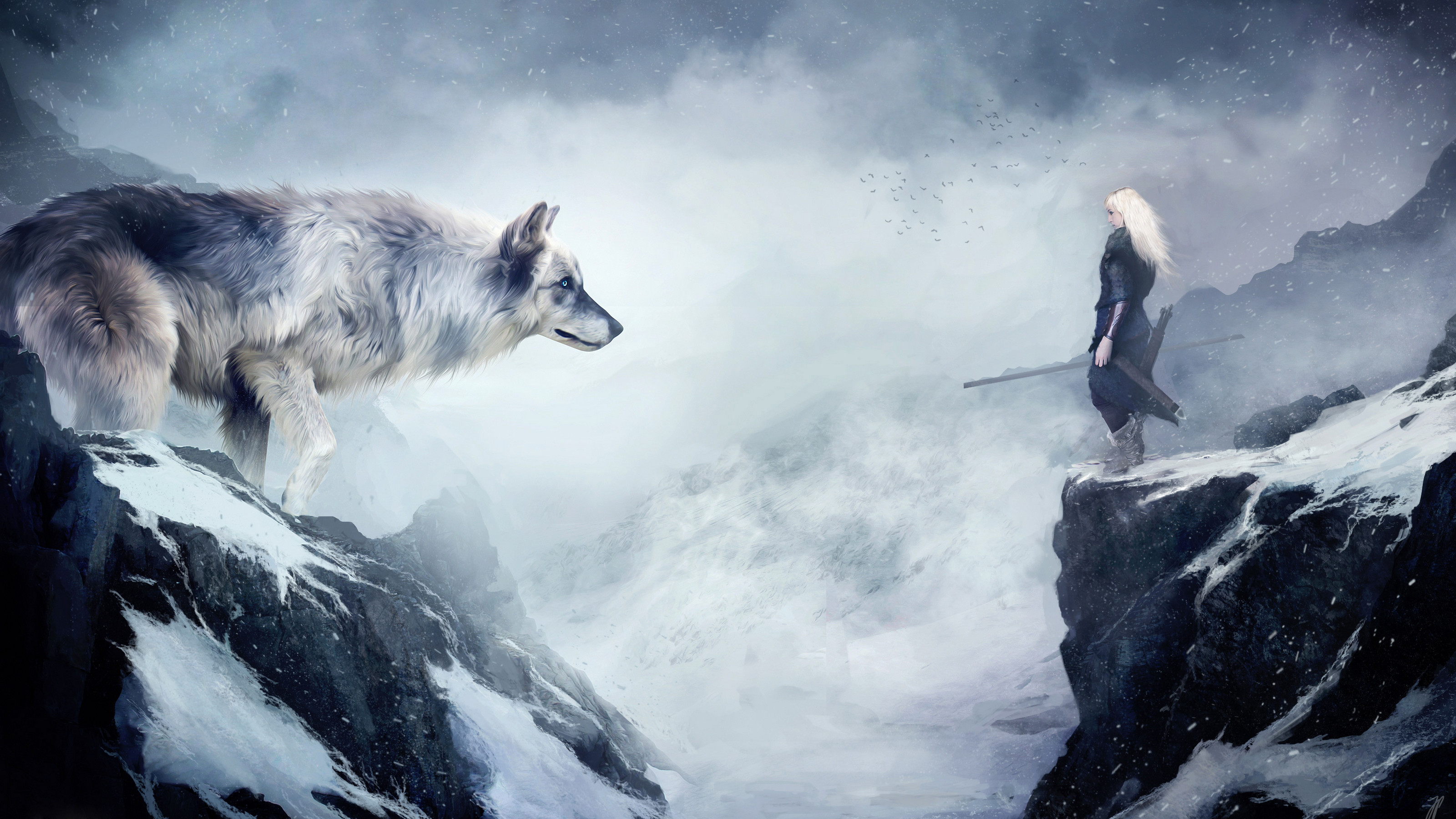3200x1800 Fantasy - Wolf - Awesome - Beautiful - Fantasy - Animal Wallpaper