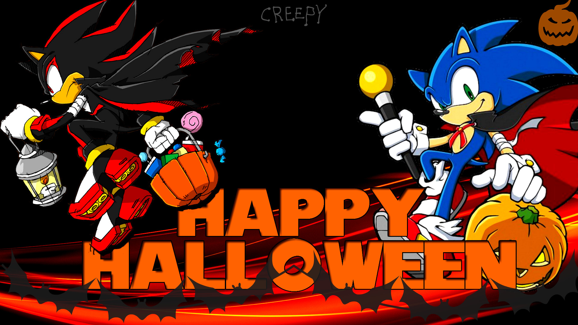 1920x1080 ... Wallpaper - Sonic and Shadow [Halloween] by Haalyle
