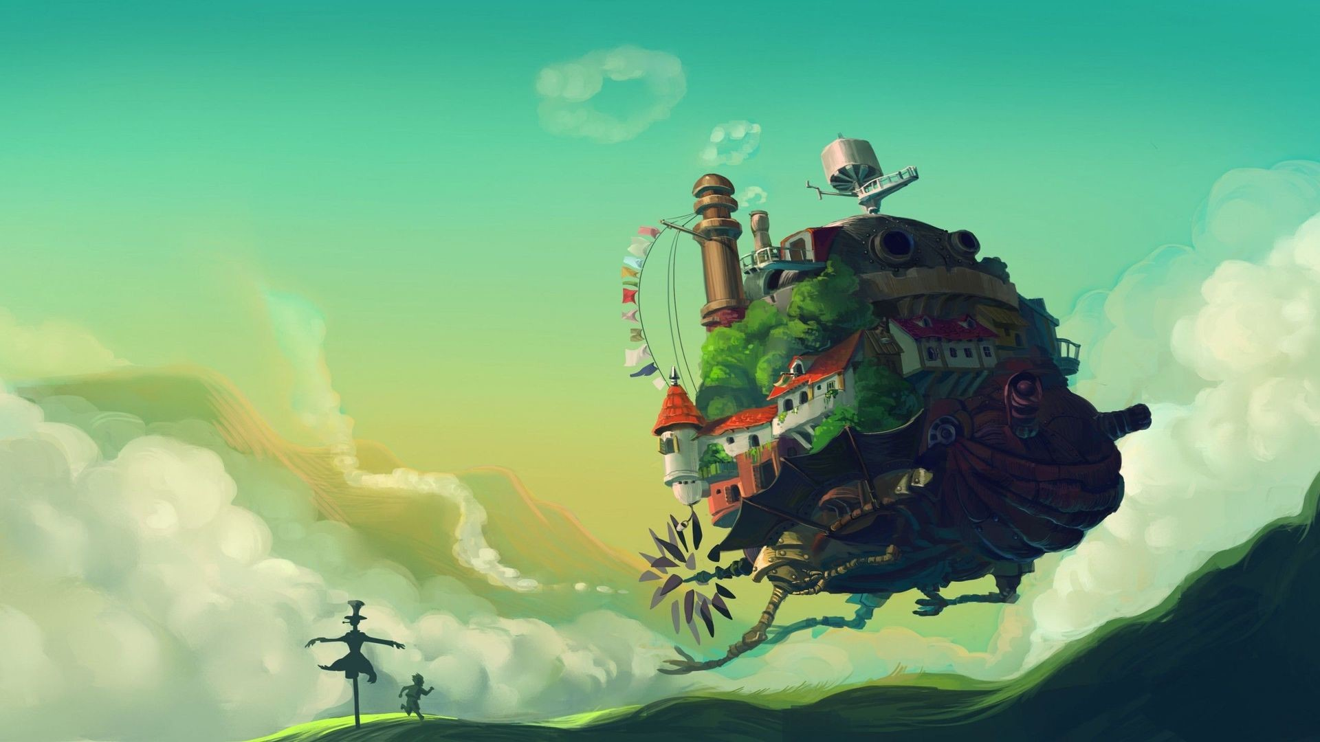 1920x1080 DOWNLOAD · Facebook Twitter Google+ Pinterest LinkedIn Reddit Delicious  StumbleUpon Tumblr Share. Tags: Howls Moving Castle HD Wallpaper