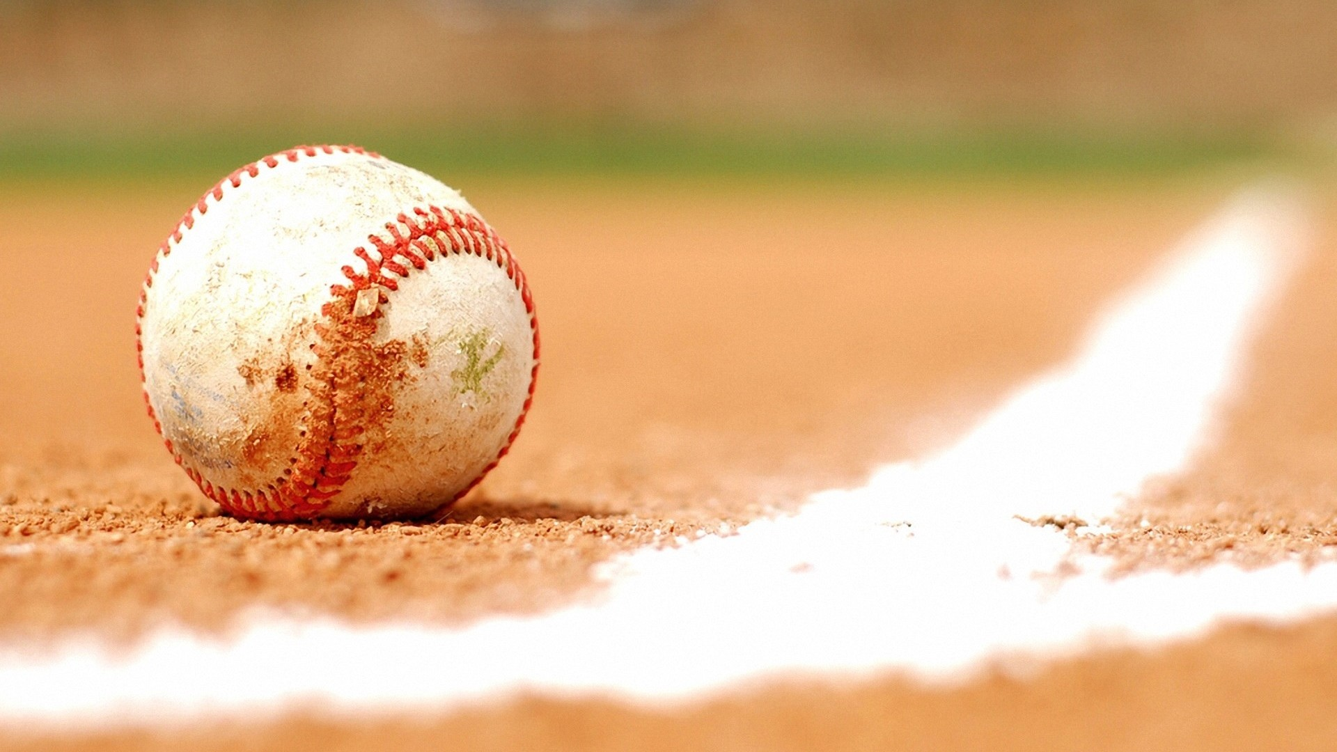 1920x1080 Ball and baseball field wallpaper: