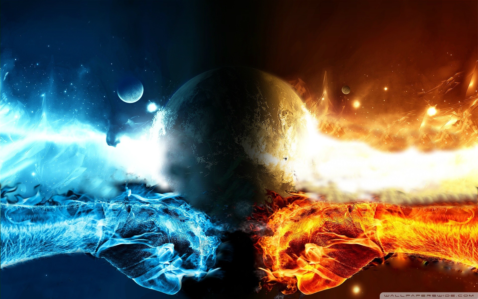 1920x1200 Fire Vs Water 1920×1200 Wallpaper At 3d Wallpapers
