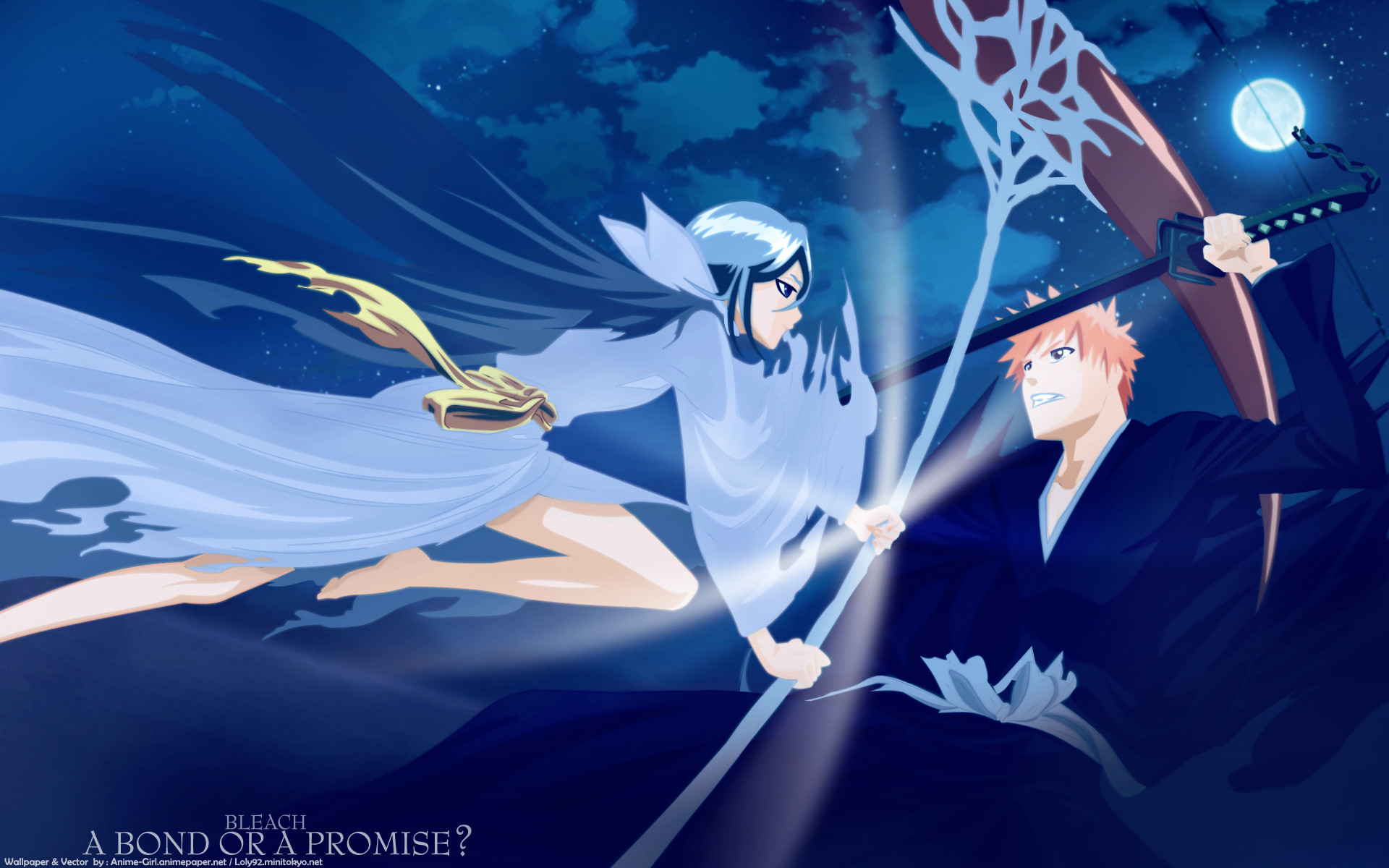 1920x1200 Bleach Forever images Ichigo X Dark Rukia HD wallpaper and background photos
