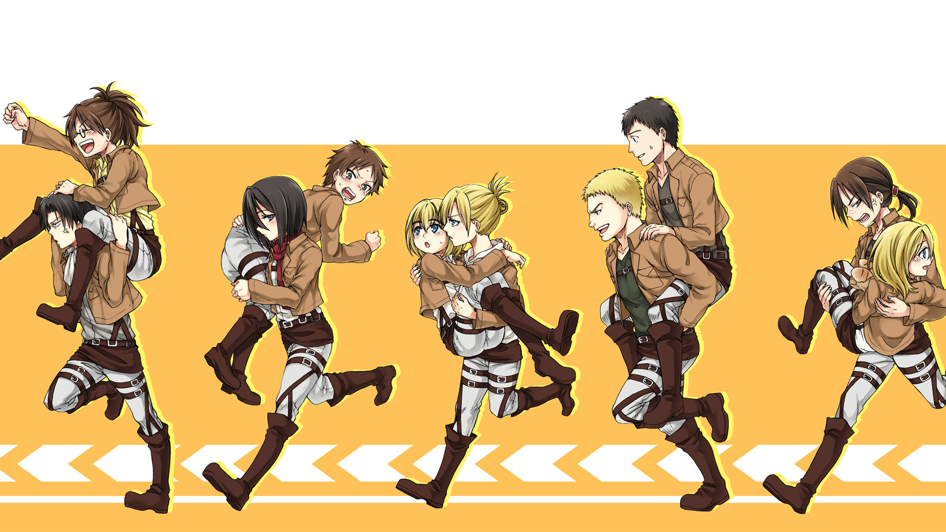 1920x1080 Anime - Attack On Titan Shingeki No Kyojin Historia Reiss Sasha Blouse  Reiner Braun Bertolt Hoover