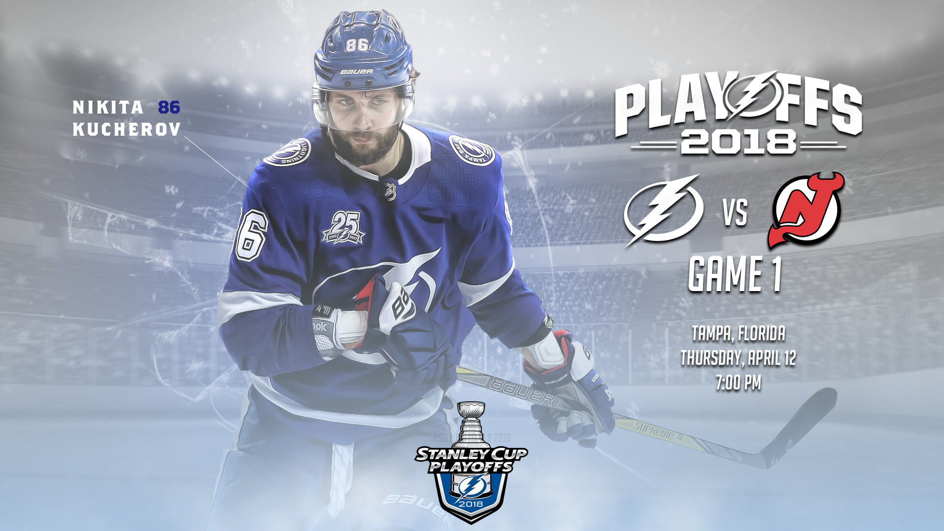 1920x1080 Game day thread and preview: Tampa Bay Lightning vs. New Jersey Devils,  game 1