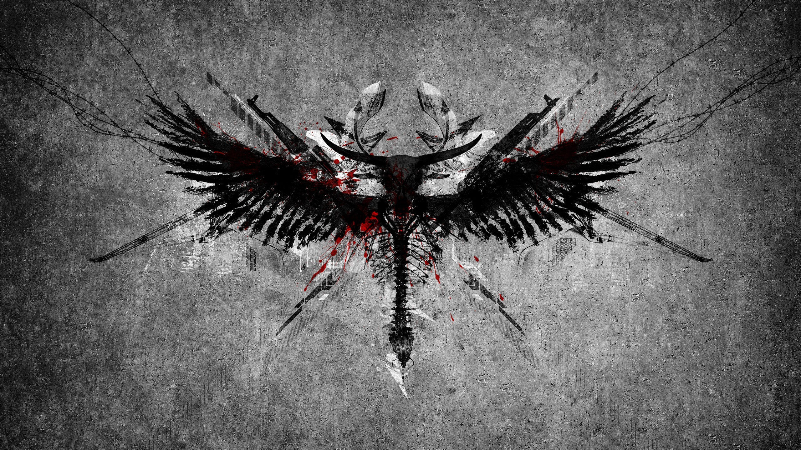 2560x1440 Angel Warrior Symbol wallpaper from Angels wallpapers