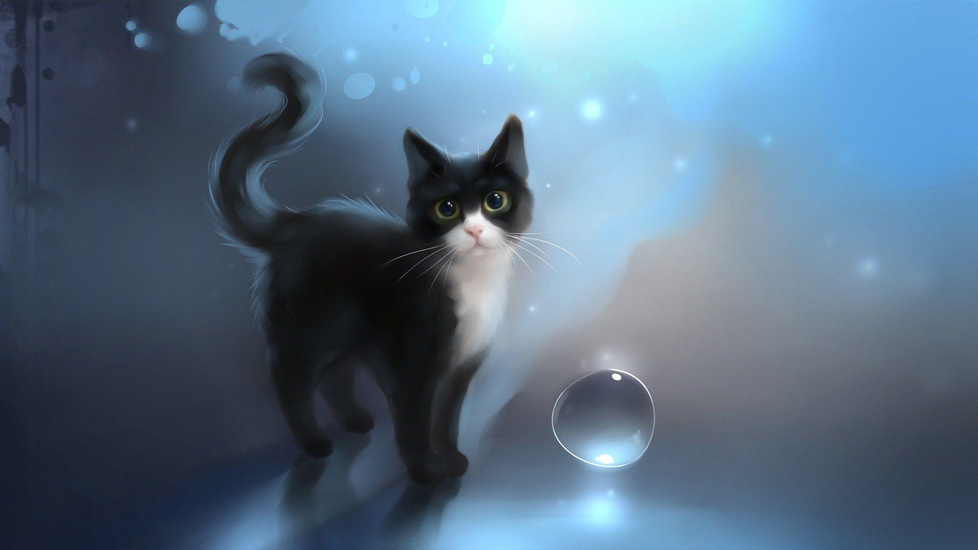 Cute Cat Halloween Wallpaper 05