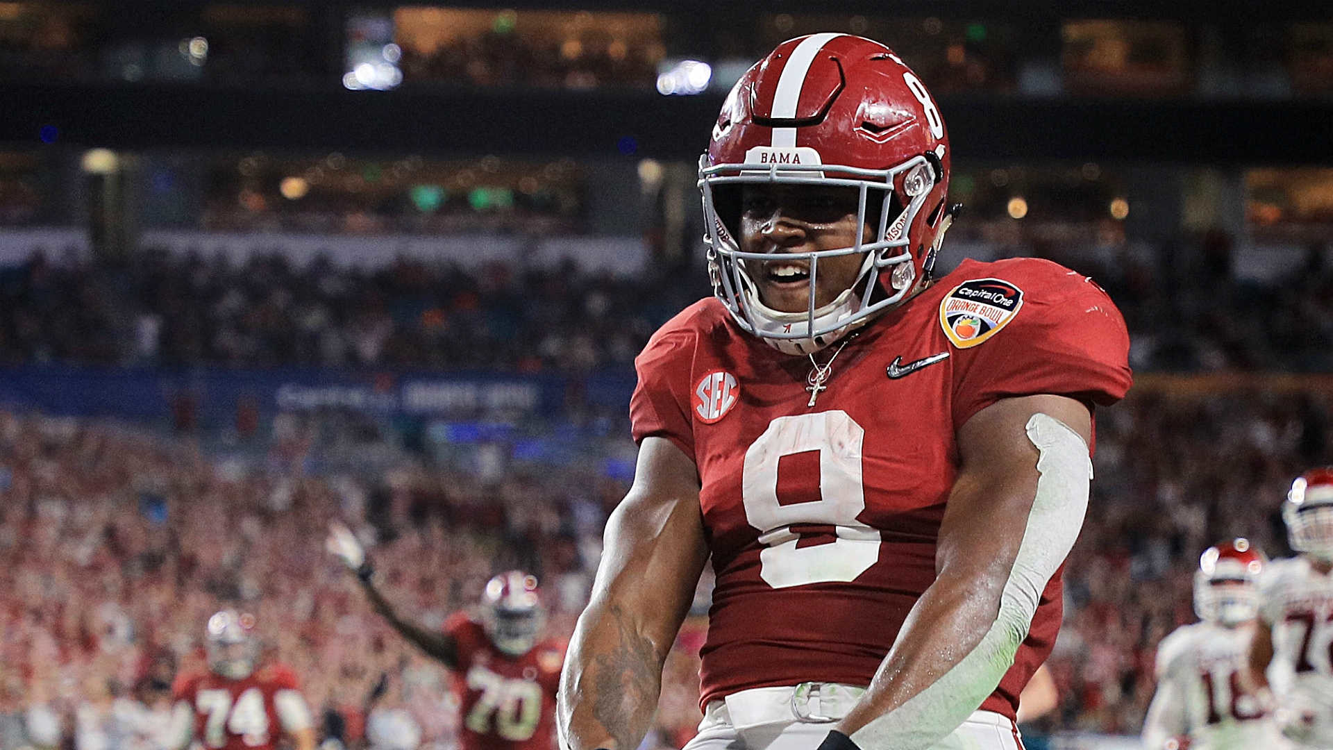 1920x1080 Josh Jacobs looks to live up to Alabama's championship game lineage
