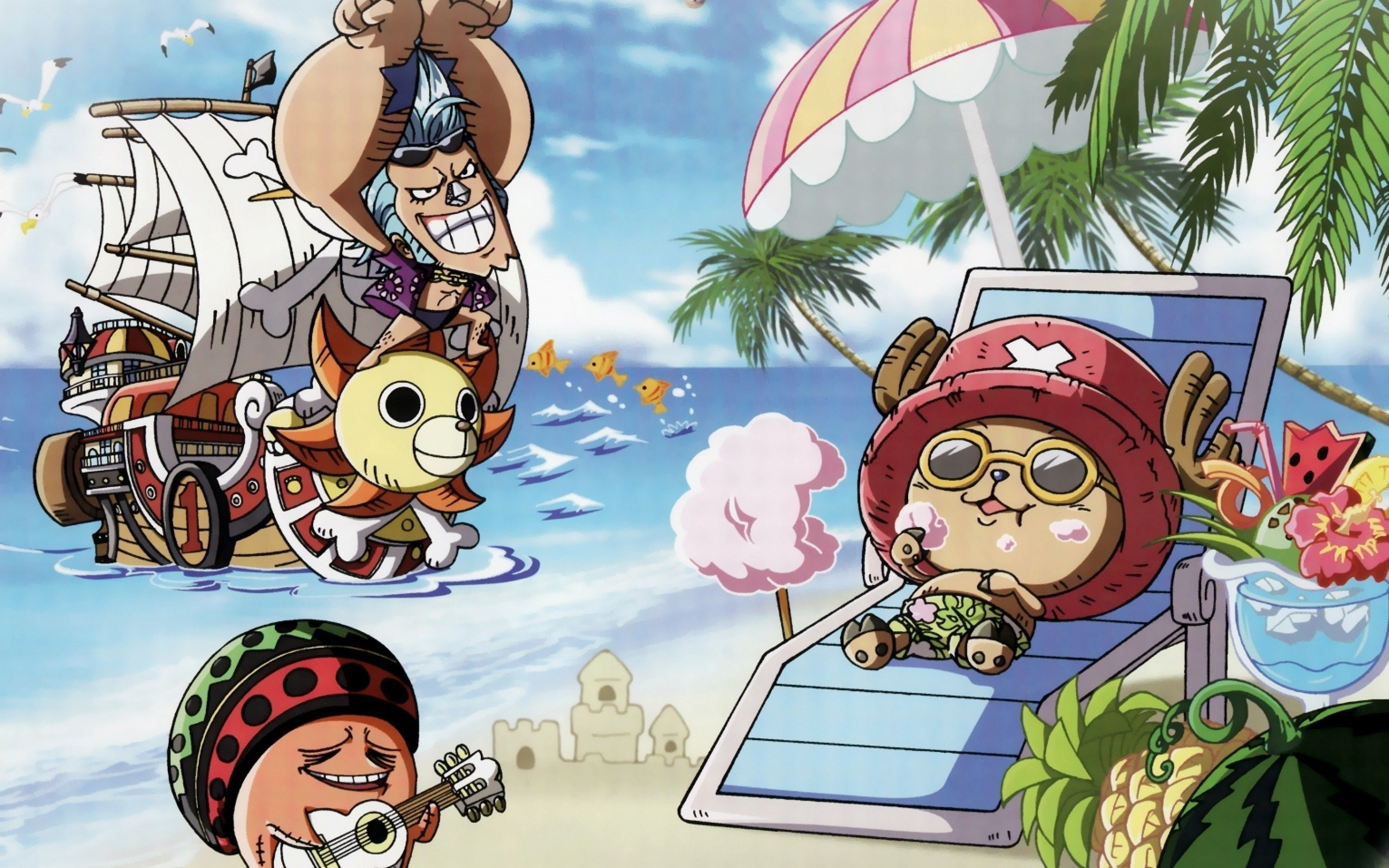 2880x1800 One Piece Chibi HD