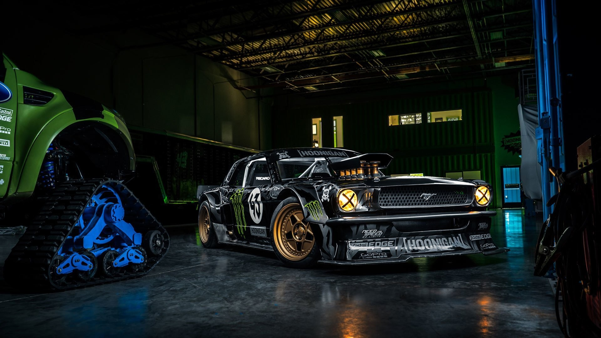 1920x1080 ford mustang rtr 1965 hoonicorn 845 hp gymkhana seven front ken block  monster energy