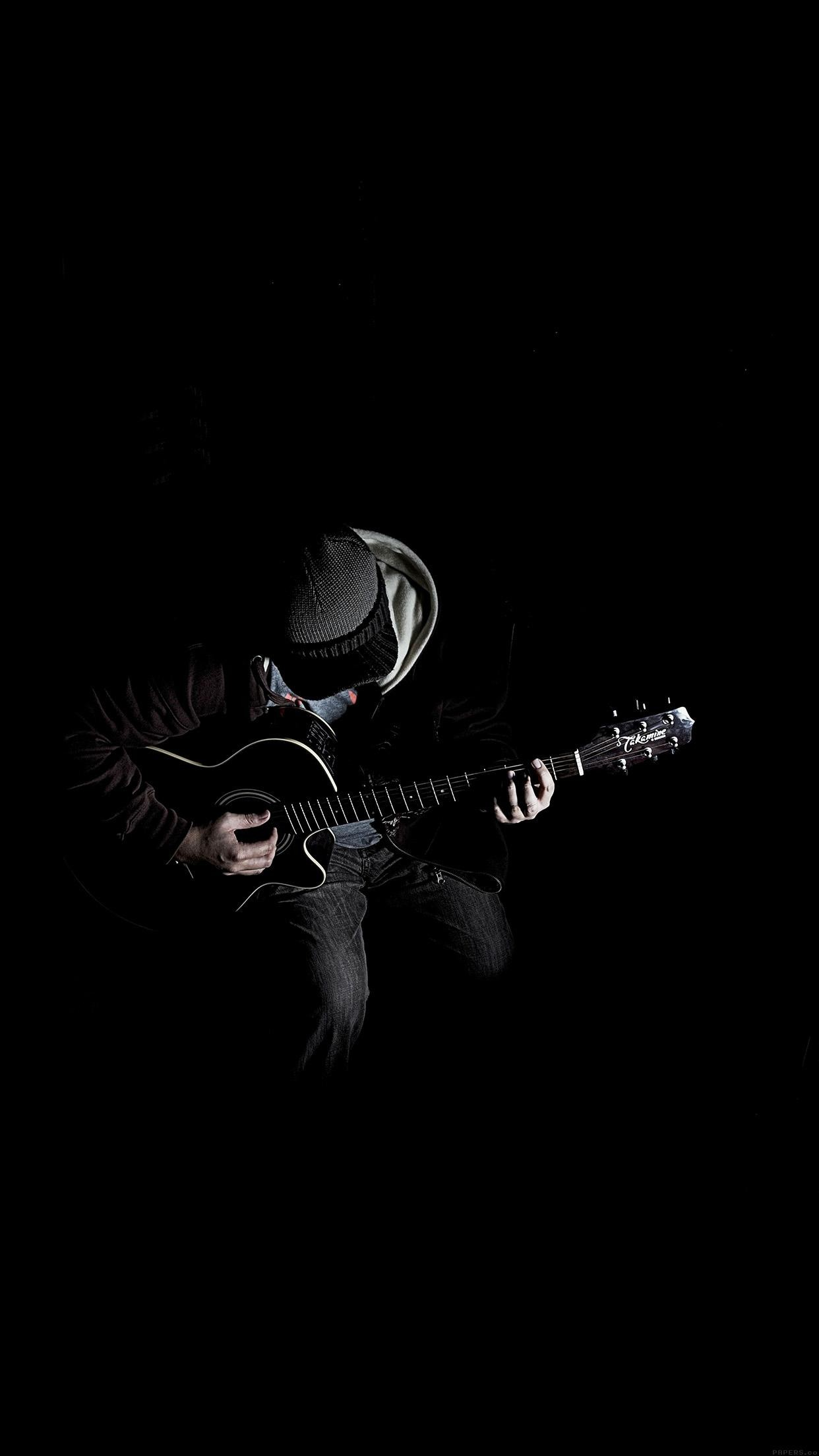 1242x2208 Out The Dark Guitar Player Music