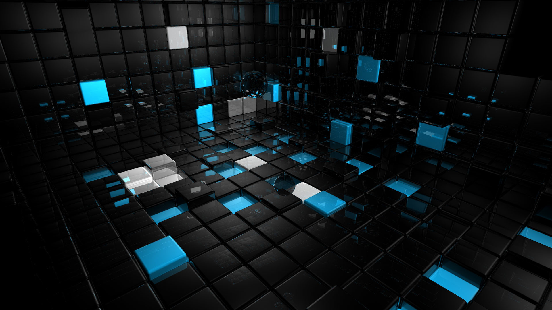 Black And Blue Cool 3d Wallpapers: Black 3D Wallpaper (70+ Images