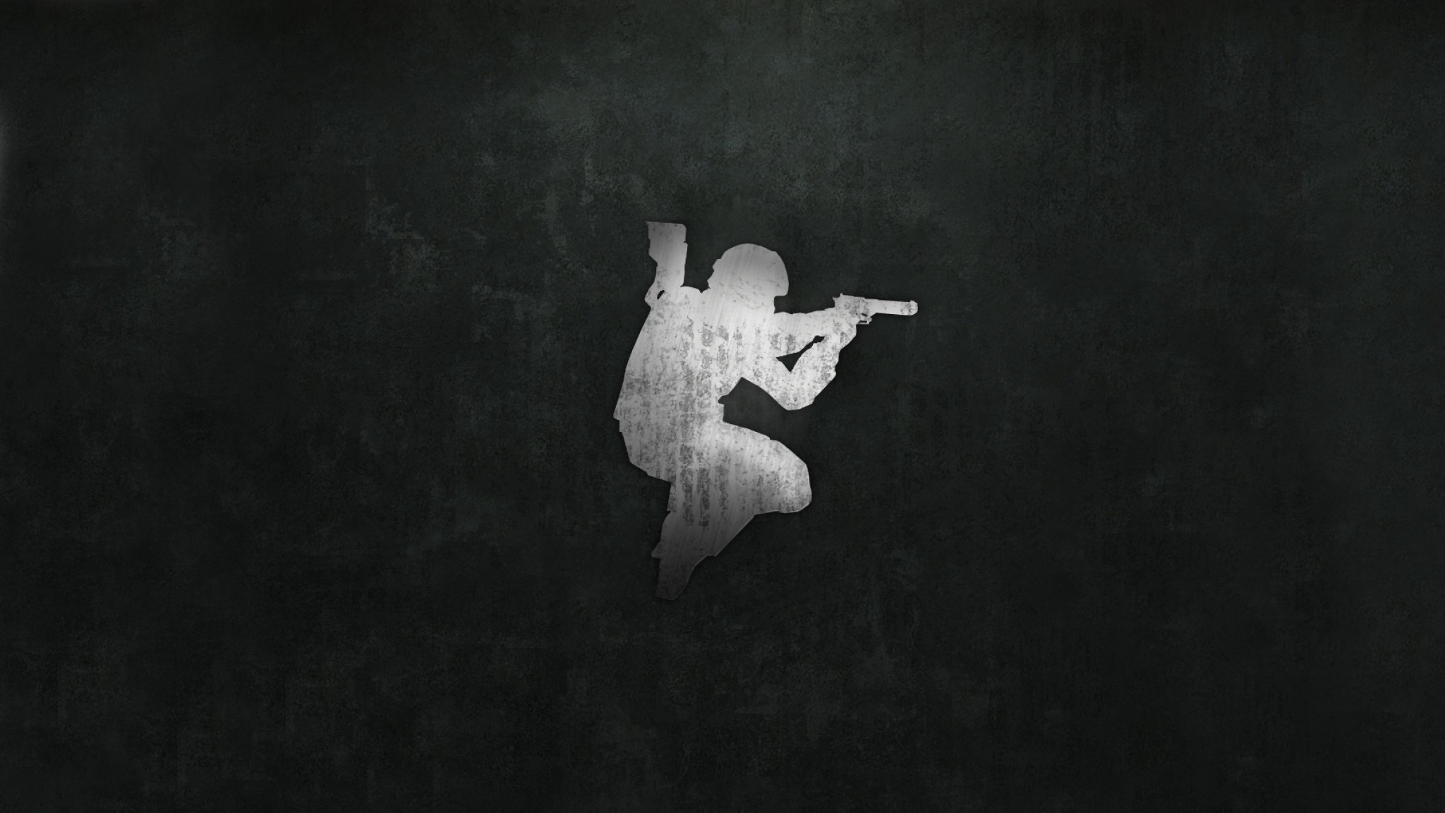 2048x1152  Wallpaper counter-strike, picture, background, pistol, soldier