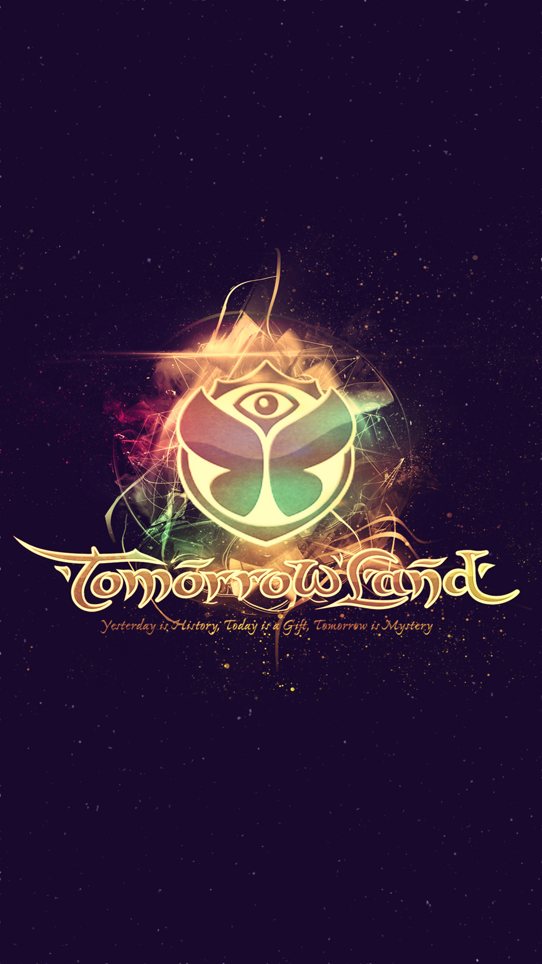 1080x1920 #Tomorrowland 2014 Electronic Music Festival Logo #Android #Wallpaper