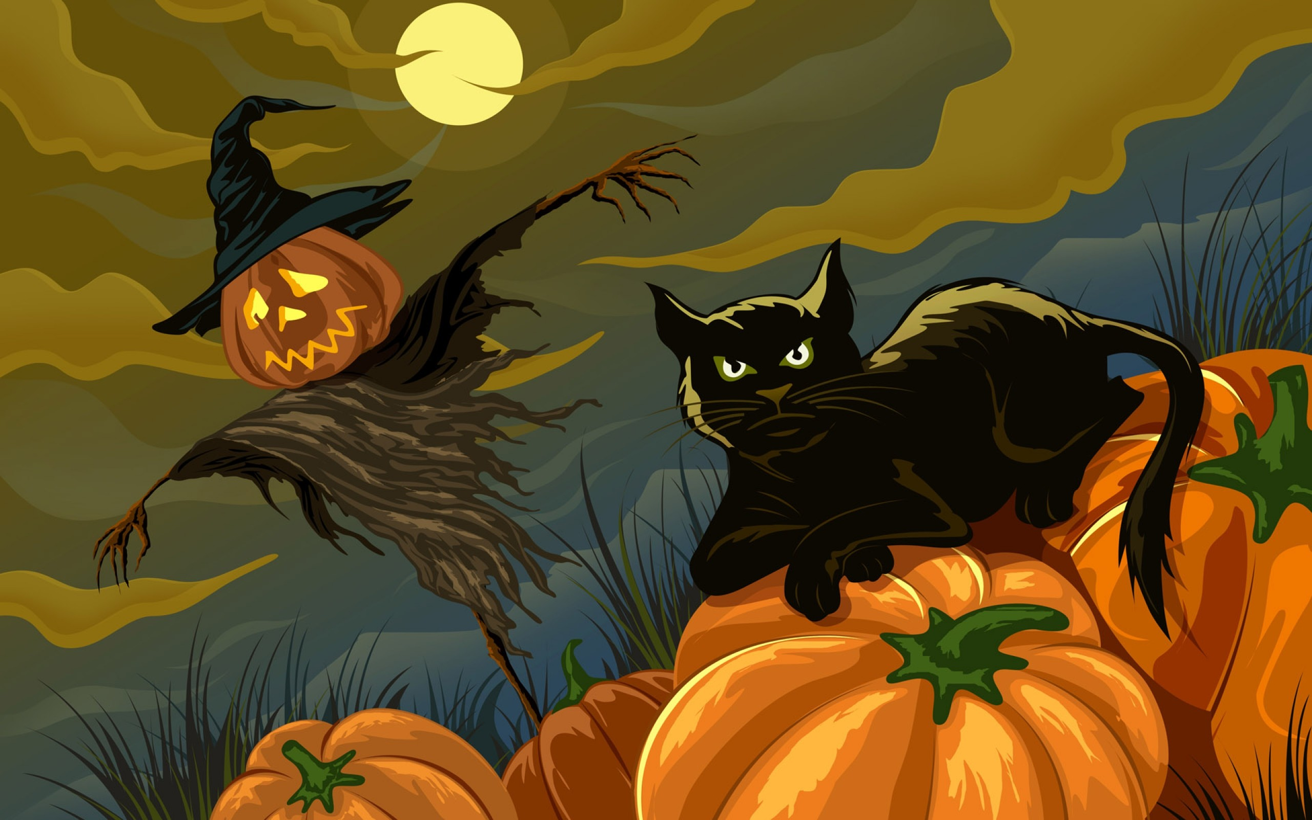 2560x1600 Scary-Halloween-2012-Pumpkin-HD-Wallpaper