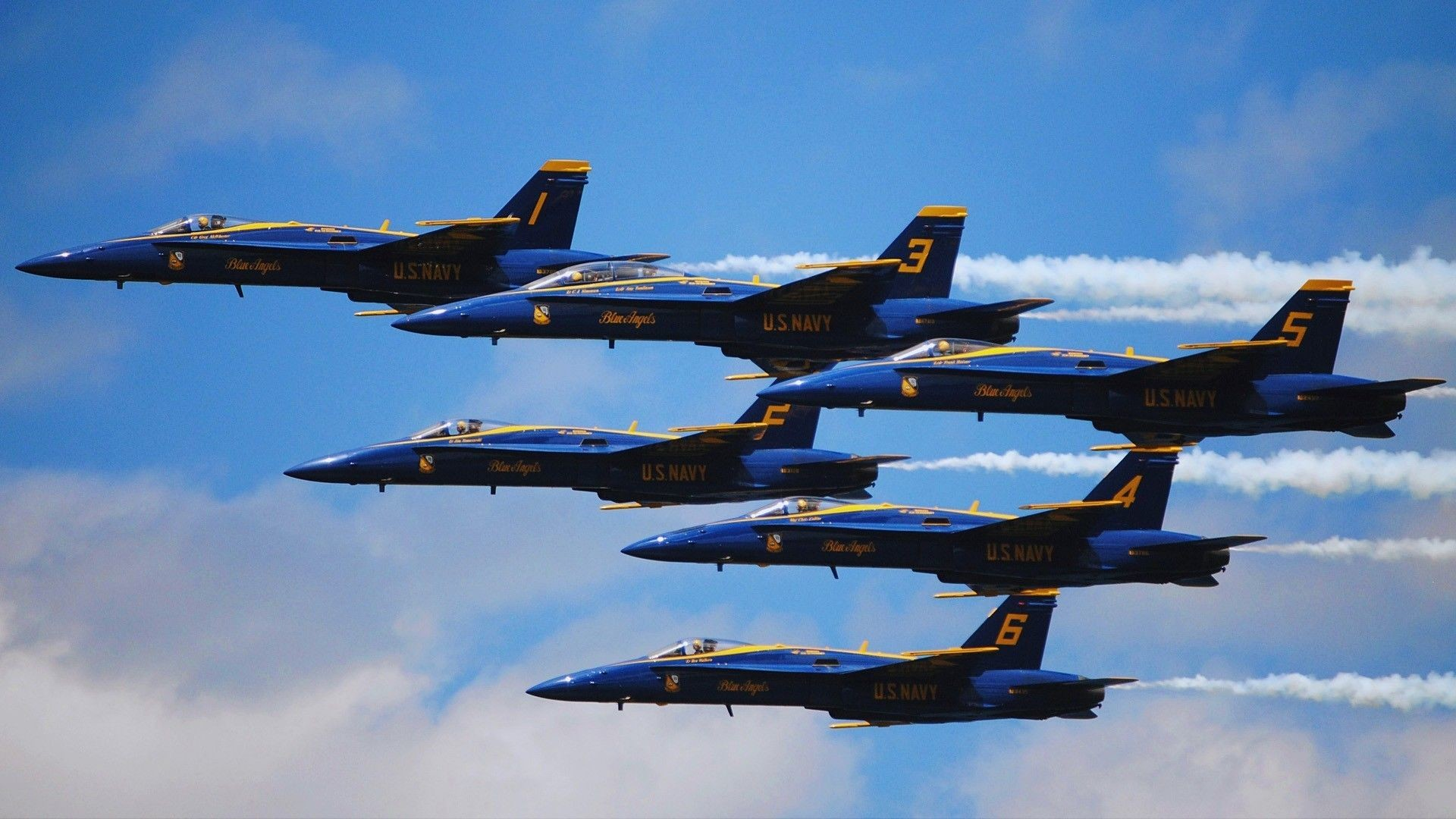 1920x1080 Navy Blue Angels Wallpaper