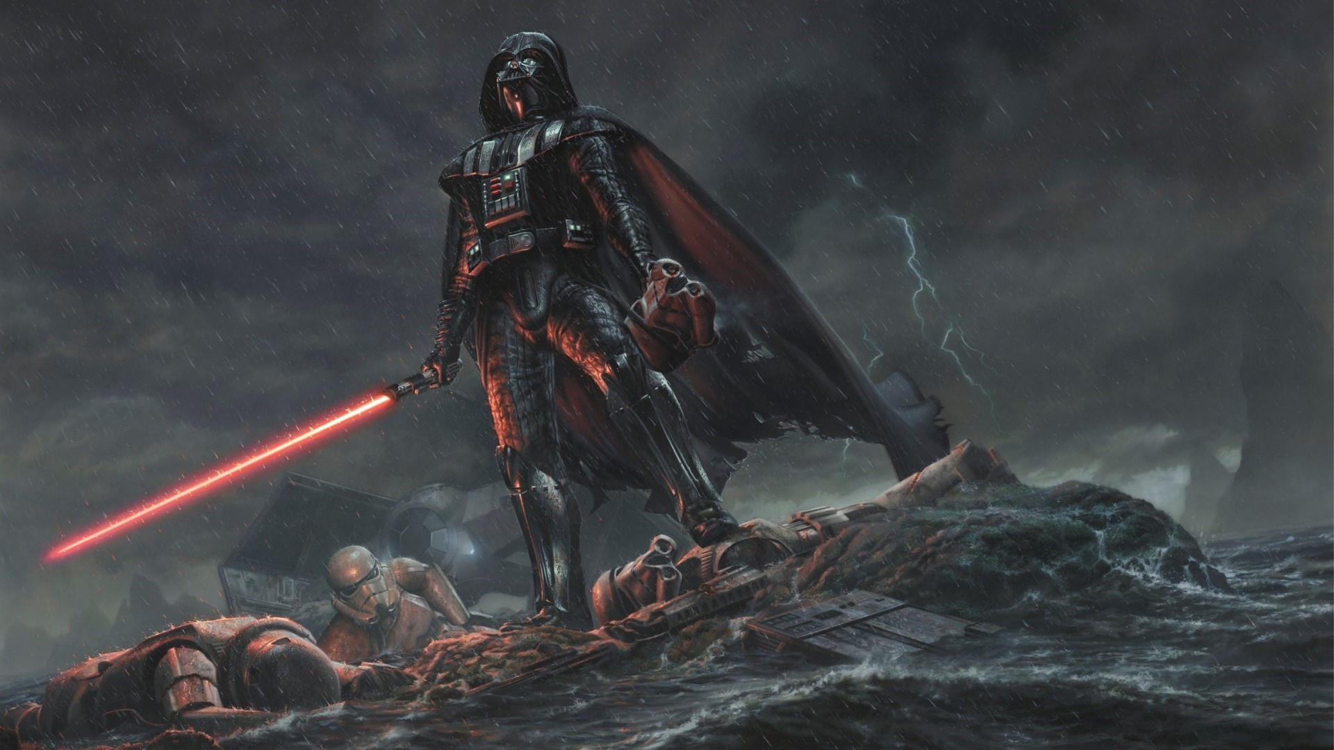 1920x1080 OtherA pretty badass Vader wallpaper I found.