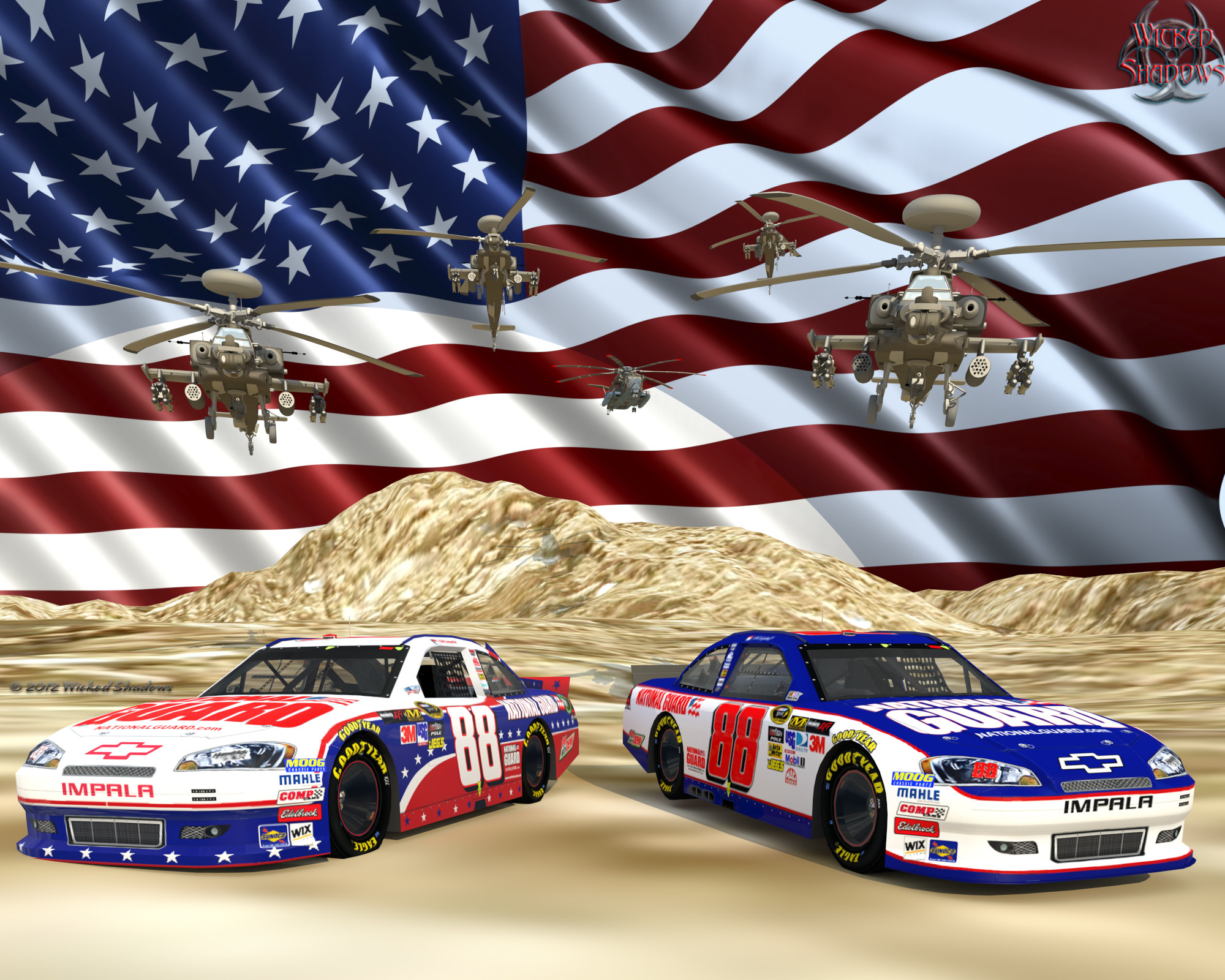 2000x1600 le Dale Earnhardt Jr. Nascar Unites National Guard Ver. 2 Wallpaper  Facebook Cover Photo | 4x3 | 5x4 ...