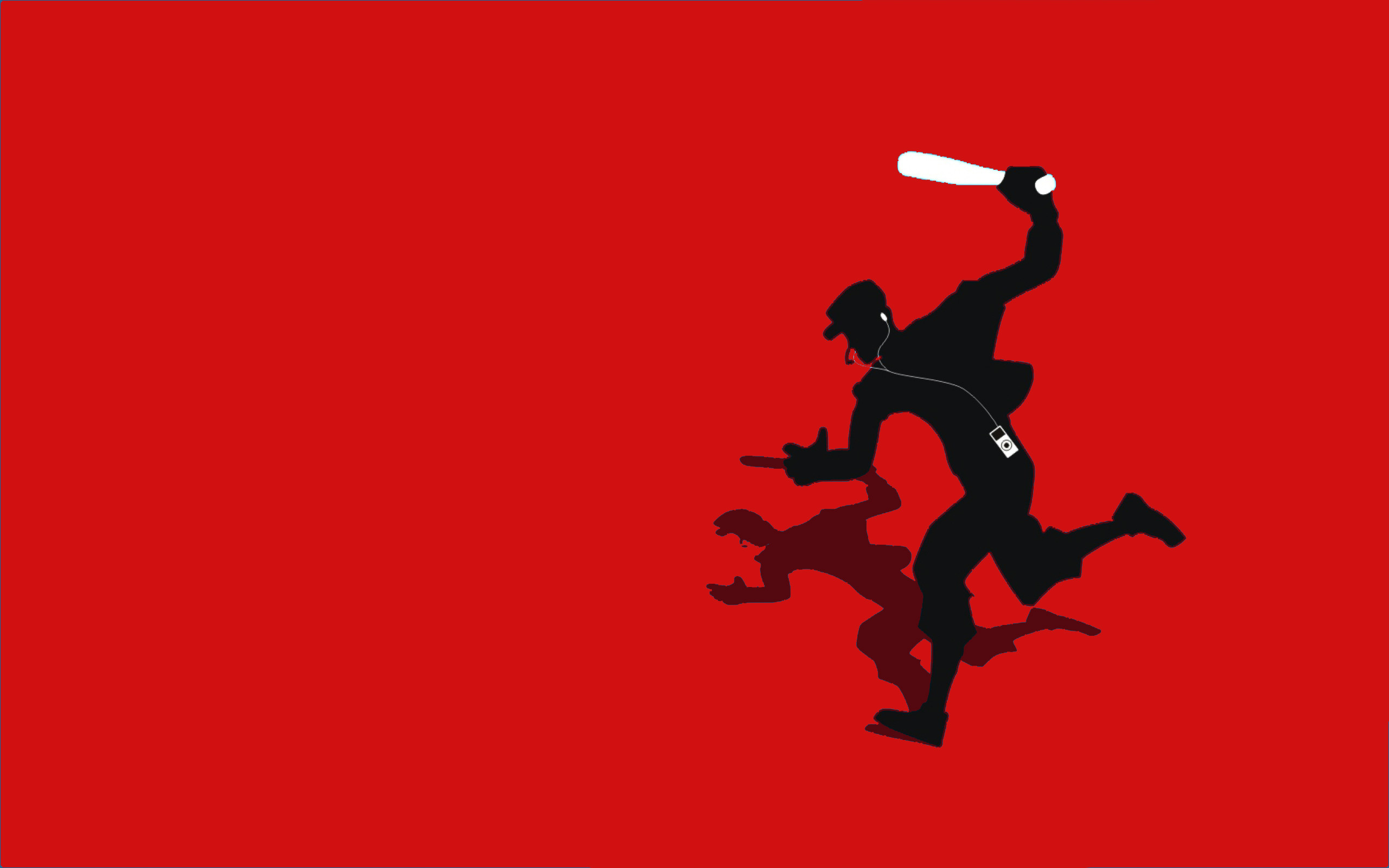 2560x1600 ... TF2 Red Scout Silhouette iPod Earbuds  by cwegrecki