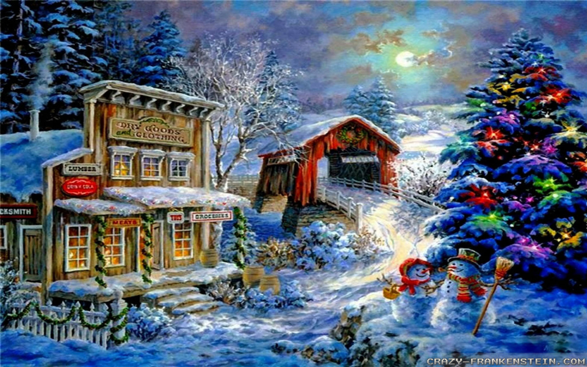 christmas scenery wallpaper (45+ images)