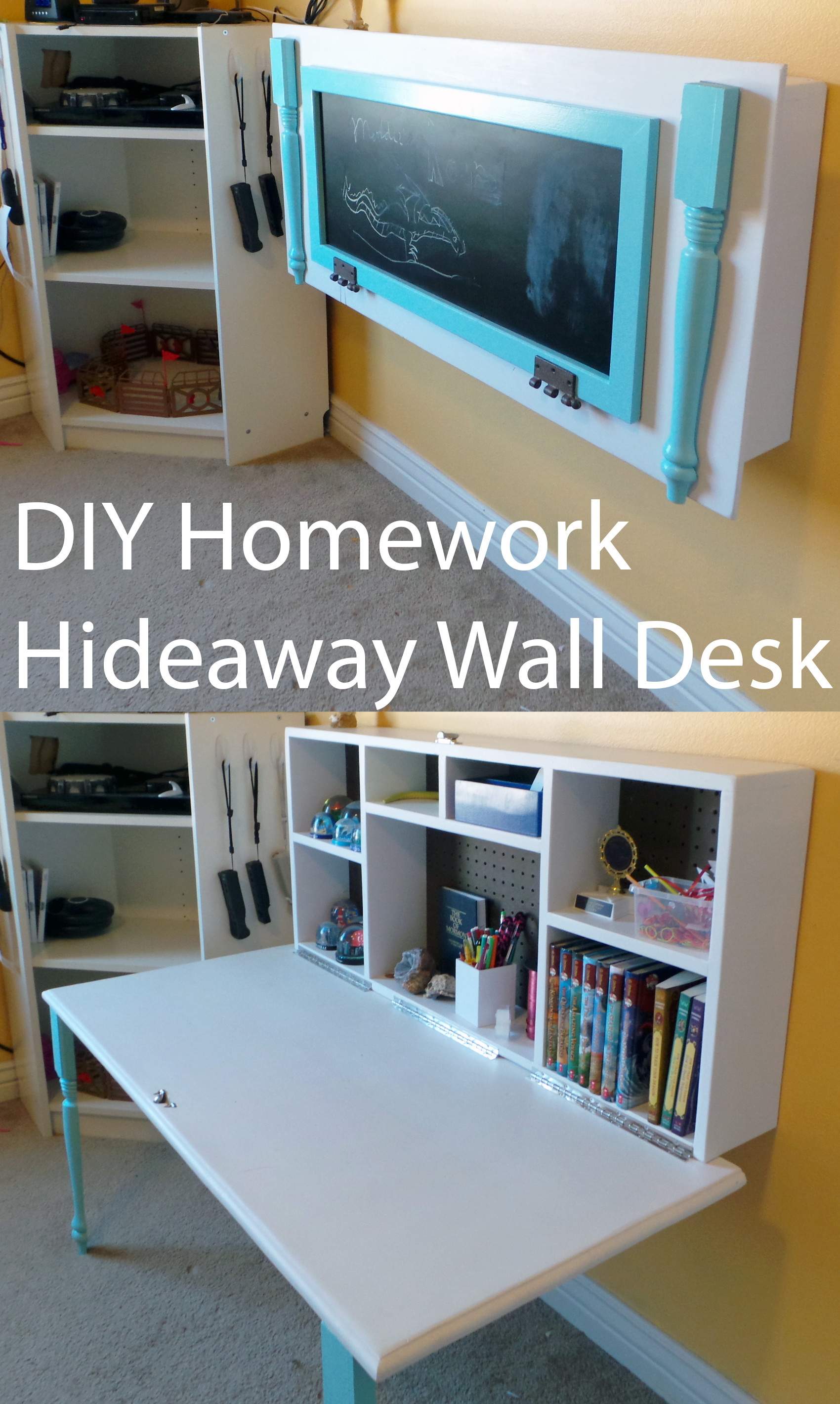 1700x2840 ... Uncategorized 47 Incredible Diy Desk Diyomeworkideaway Wall Desk  Uncategorized Kids The Organized Mom Incredible Desktop Wallpaper
