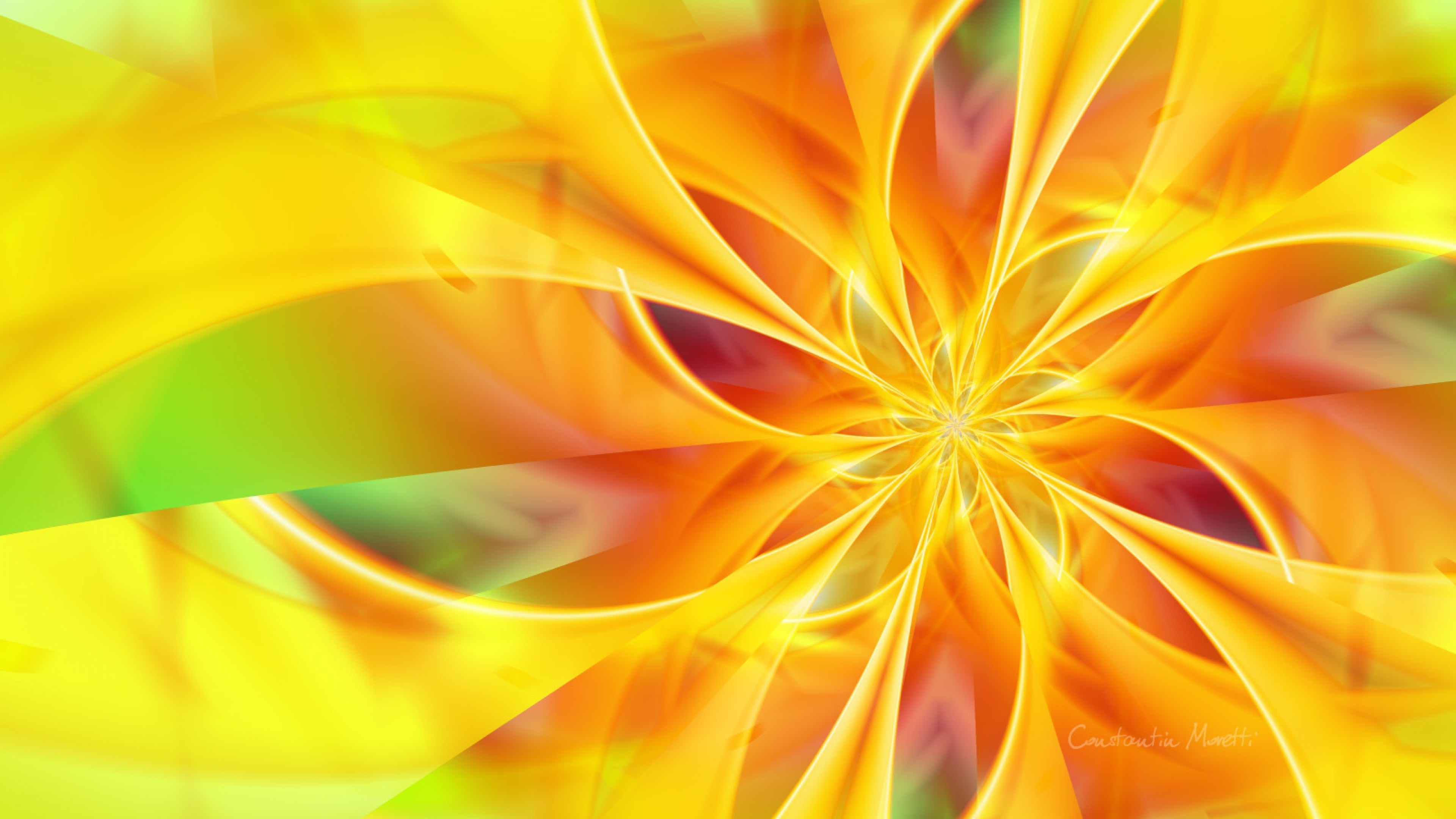 3840x2160 Download Colorful Yellow Flower Background