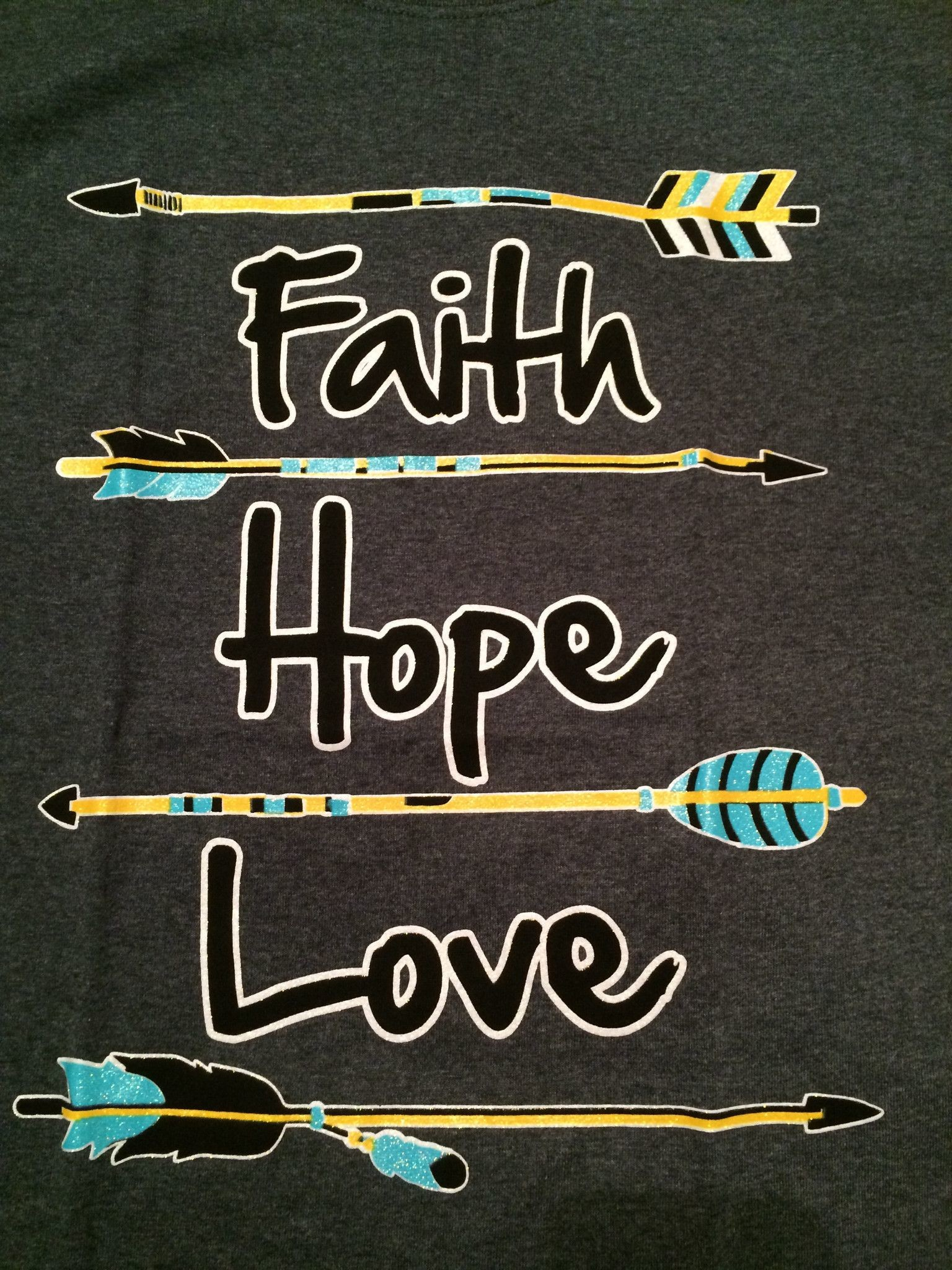 1536x2048 Cute and Glittery, Faith Hope Love T-Shirt with arrow design. Gray  background · Wallpaper QuotesWallpaper BackgroundsIphone ...