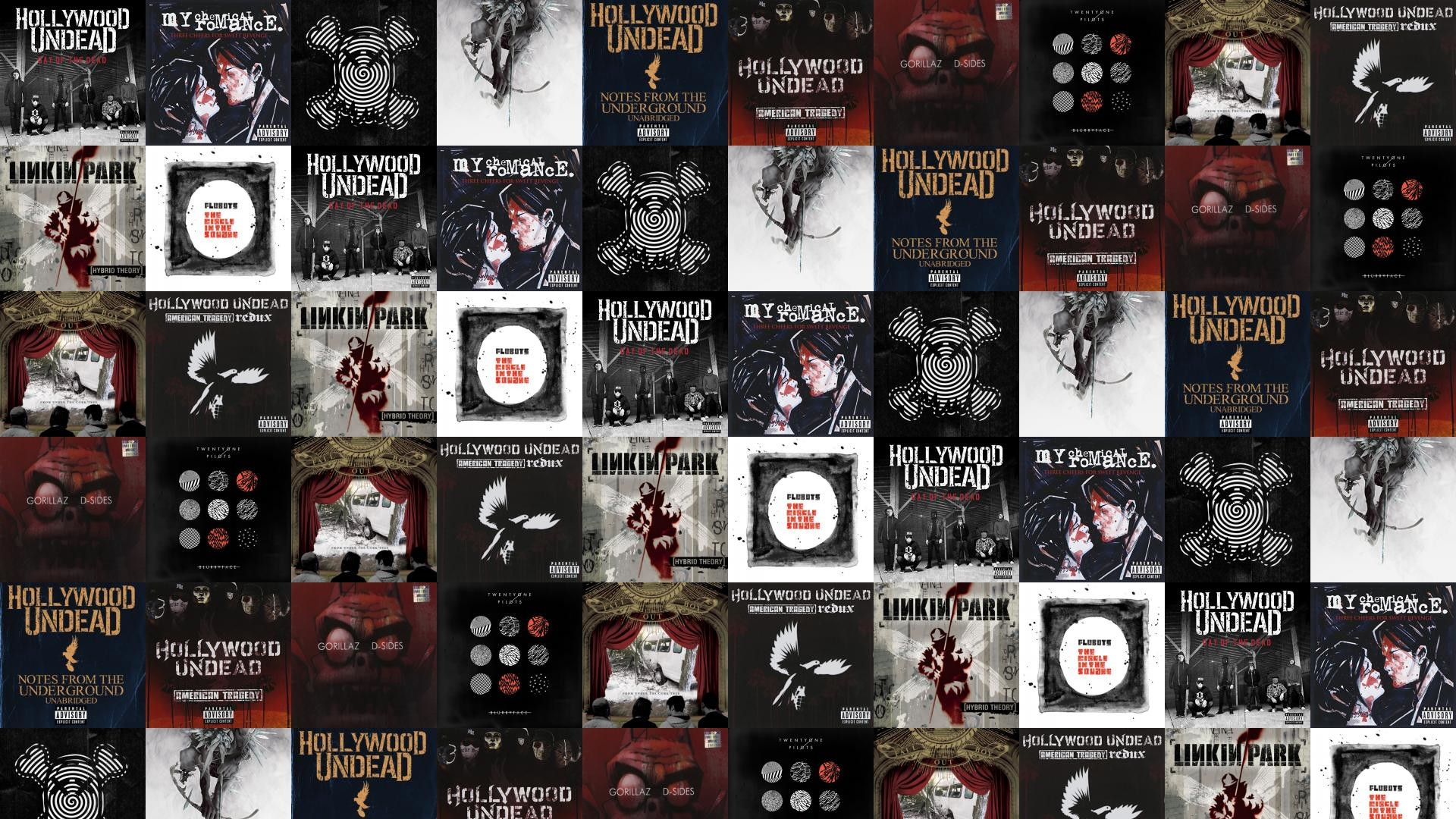 1920x1080 Download this free wallpaper with images of Hollywood Undead – Day Of The  Dead, My Chemical Romance – Three Cheers For Sweet Revenge, Ghost Town –  The After ...