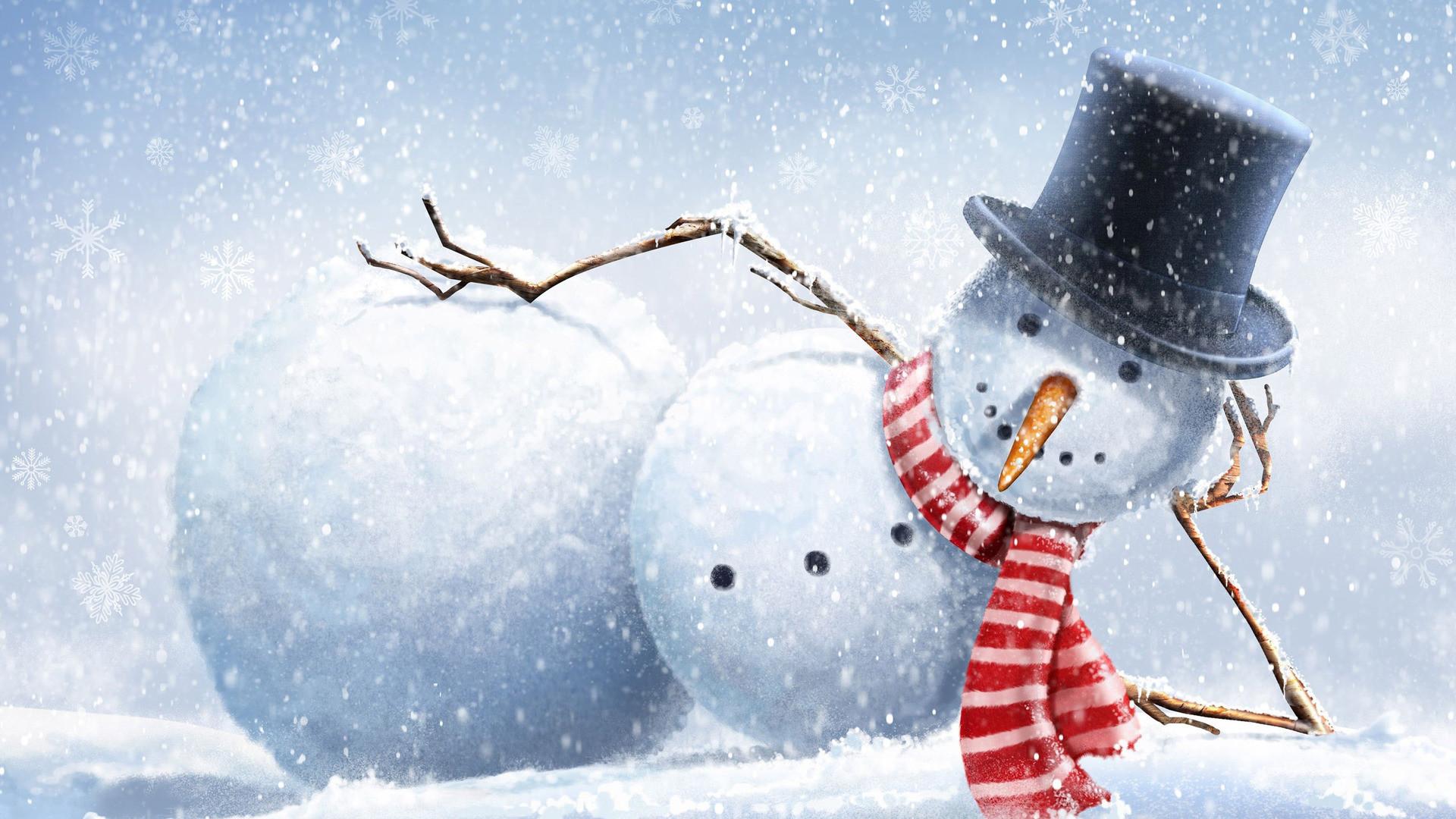 1920x1080 Snowman Wallpaper 24717