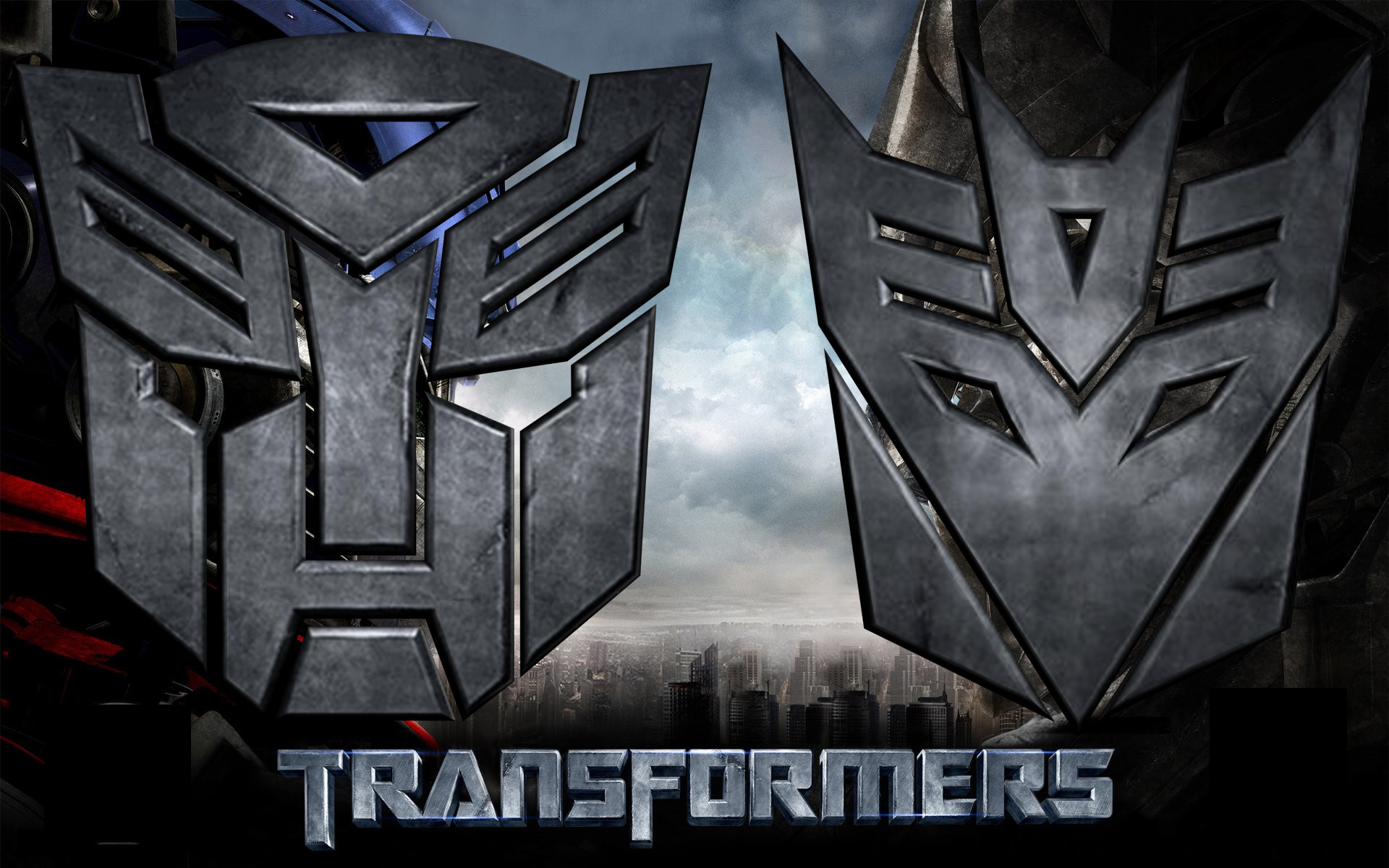 1920x1200 ... 3D Autobot and Decepticon Logo by td0615